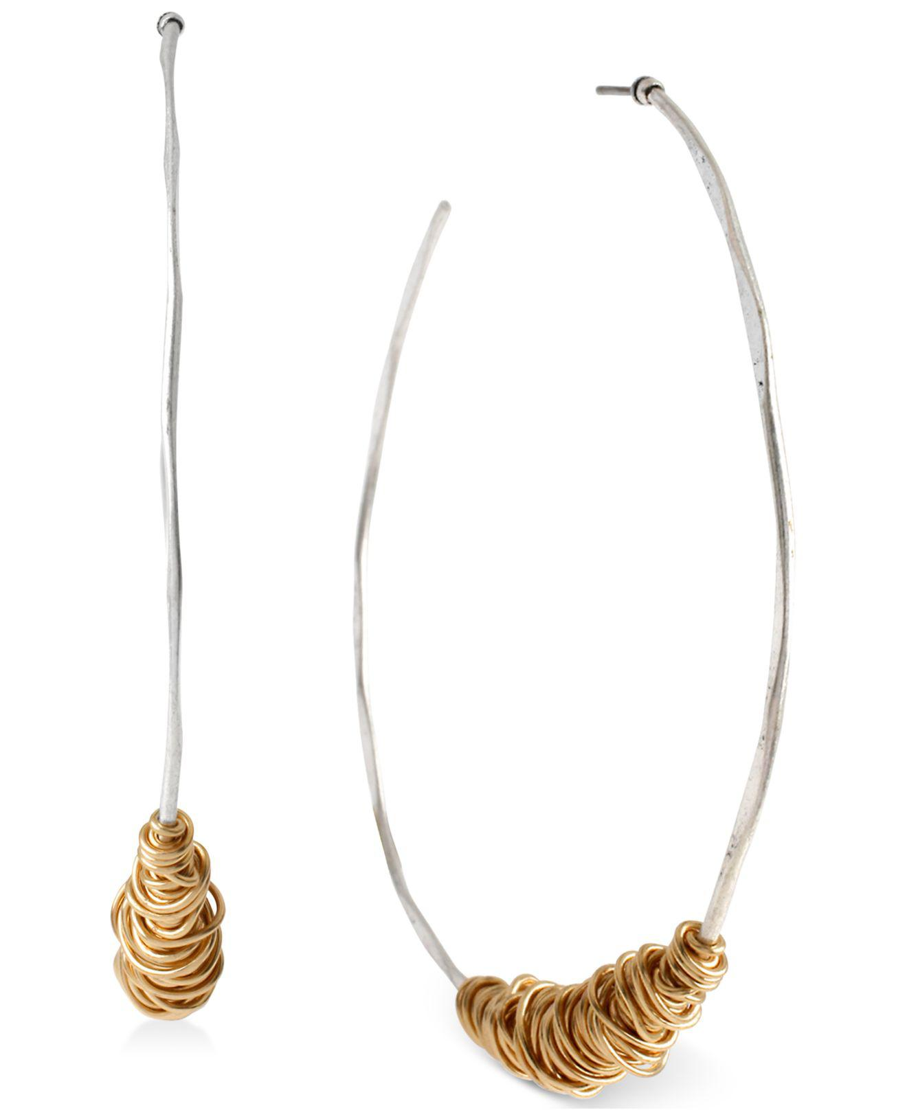 Lyst - Robert Lee Morris Two-tone Wire-wrapped Soho Hoop Earrings in ...