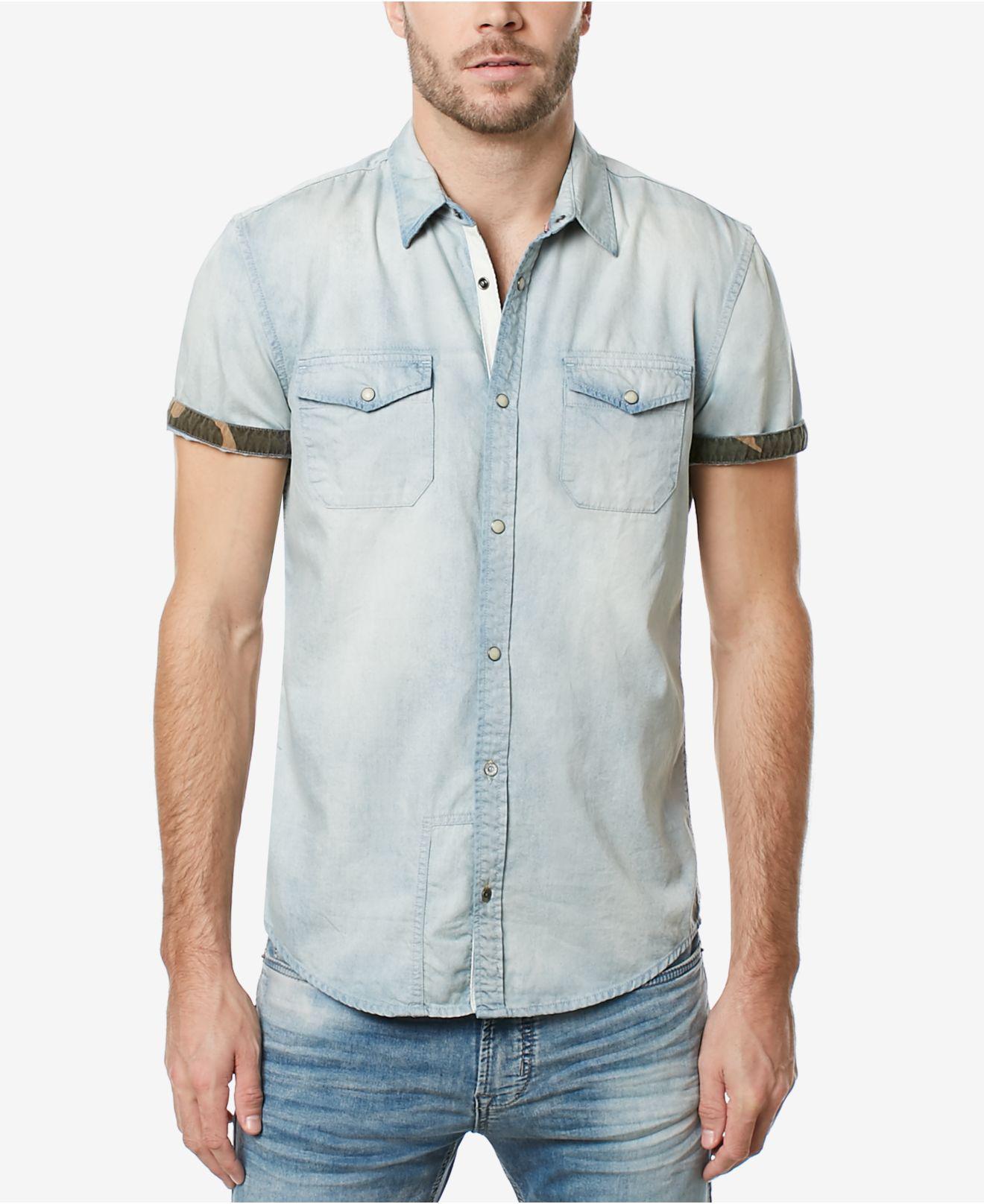 5c71fc2ef9 Lyst - Buffalo David Bitton Men s Men s Dual Pocket Denim Shirt in ...