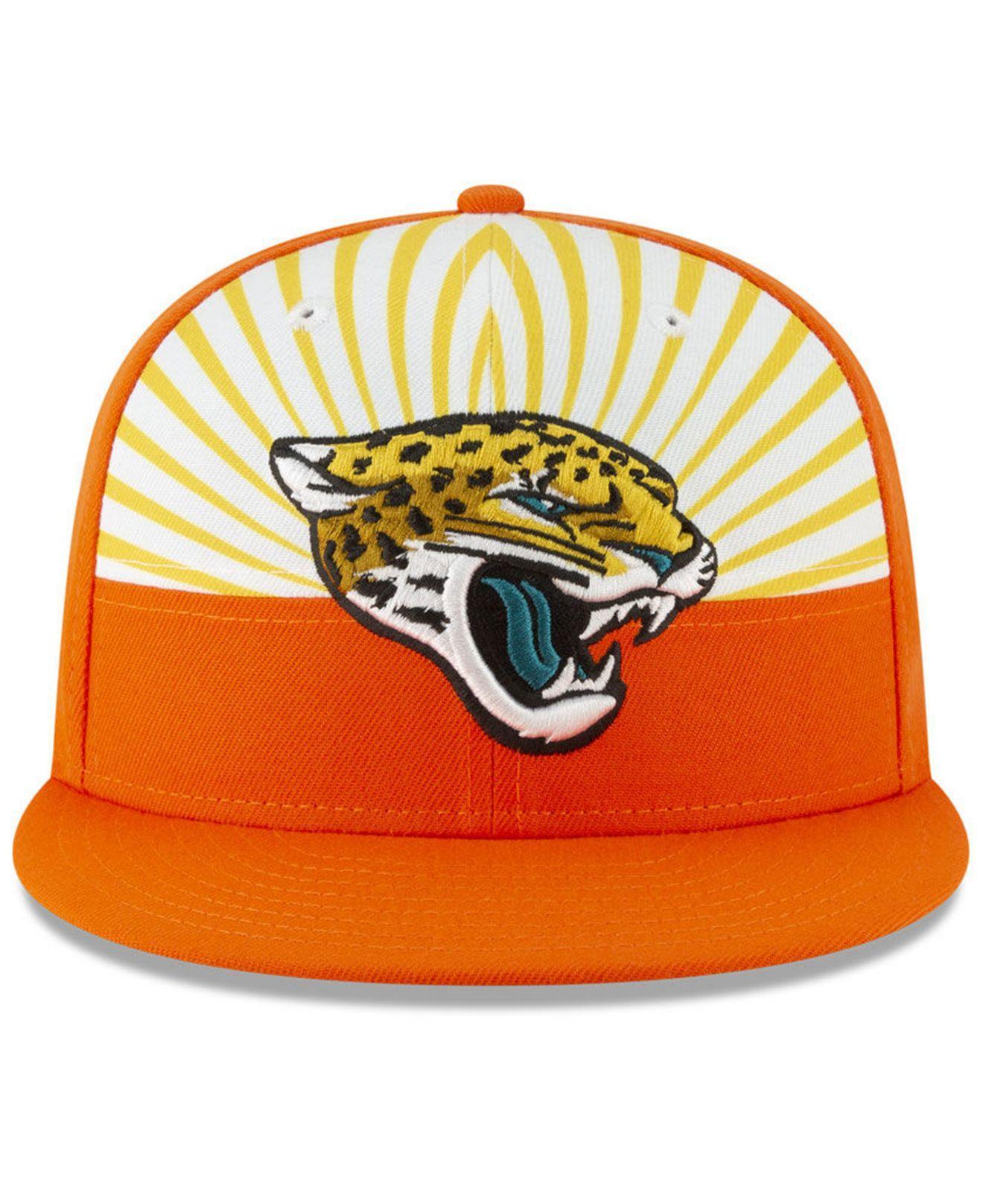 5d7e23216f7fe Lyst - KTZ Jacksonville Jaguars Draft Spotlight 9fifty Snapback Cap in  Orange for Men