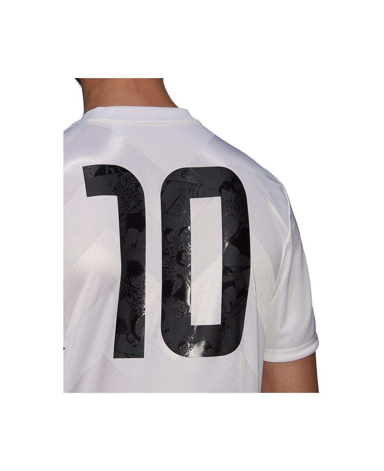 adidas Synthetic Captain Tsubasa Aeroready Soccer Jersey for Men ...