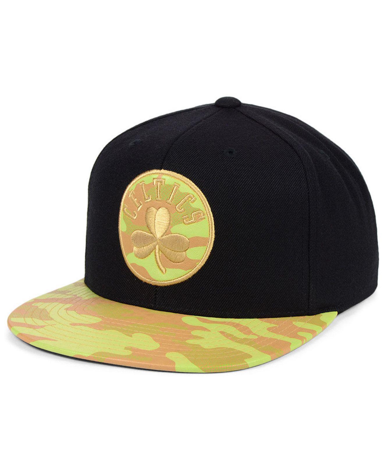 75c2b12dd412b5 Lyst - Mitchell & Ness Boston Celtics Natural Camo Snapback Cap in ...