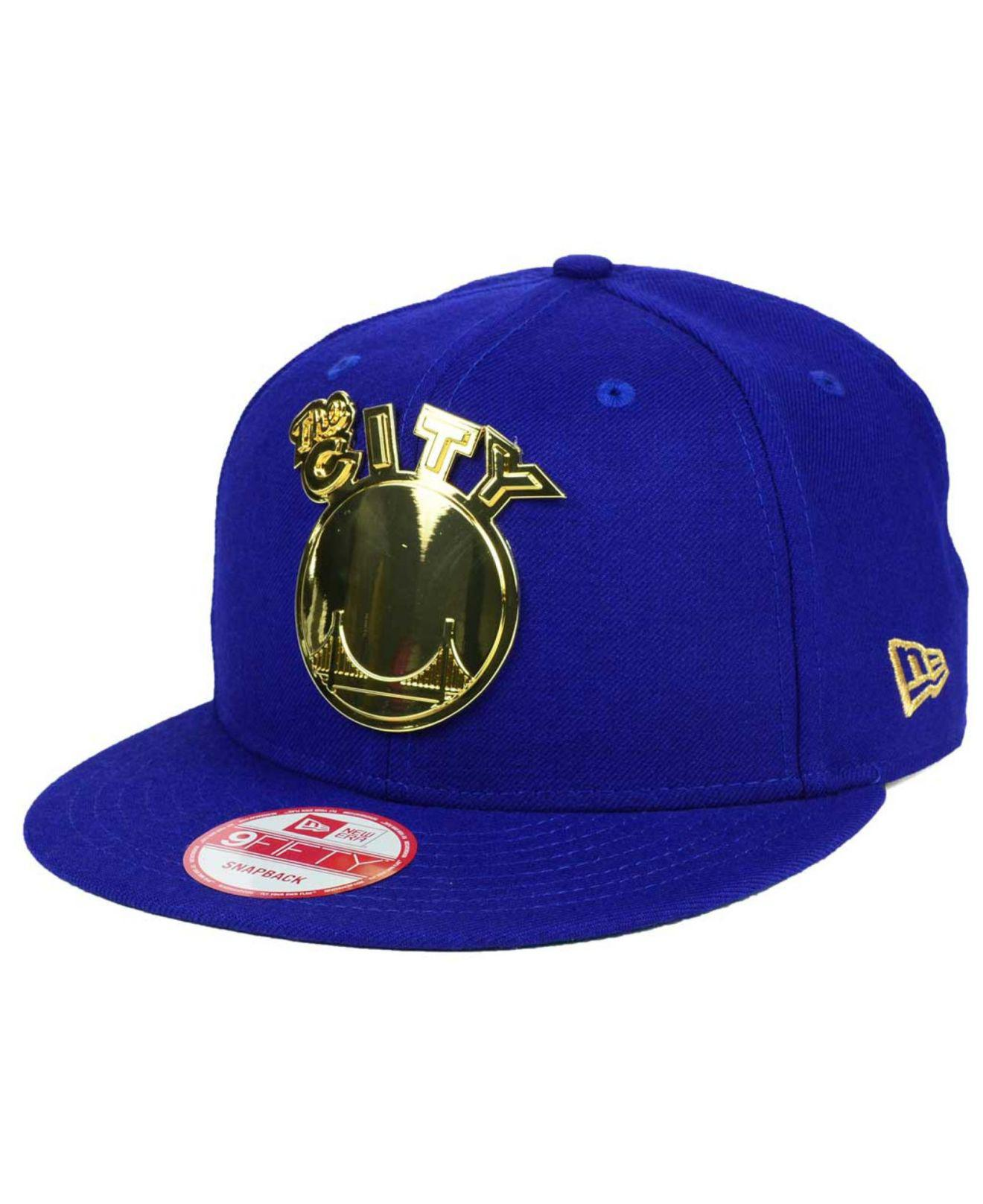 competitive price 1c0d0 cae99 Lyst - KTZ Golden State Warriors Hwc League O gold 9fifty Snapback ...