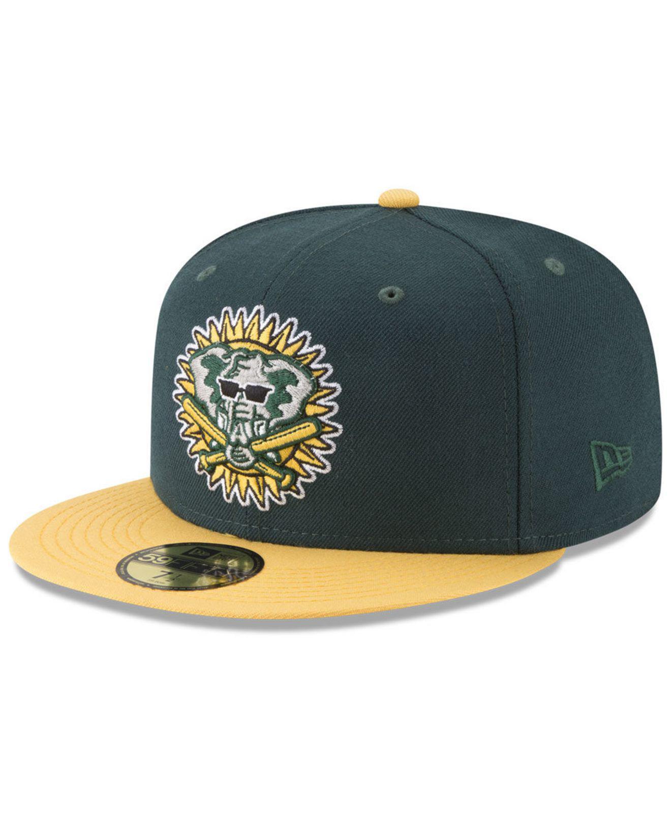 KTZ. Men s Green Oakland Athletics Batting Practice Wool Flip 59fifty  Fitted Cap 2b054c1fc6e3