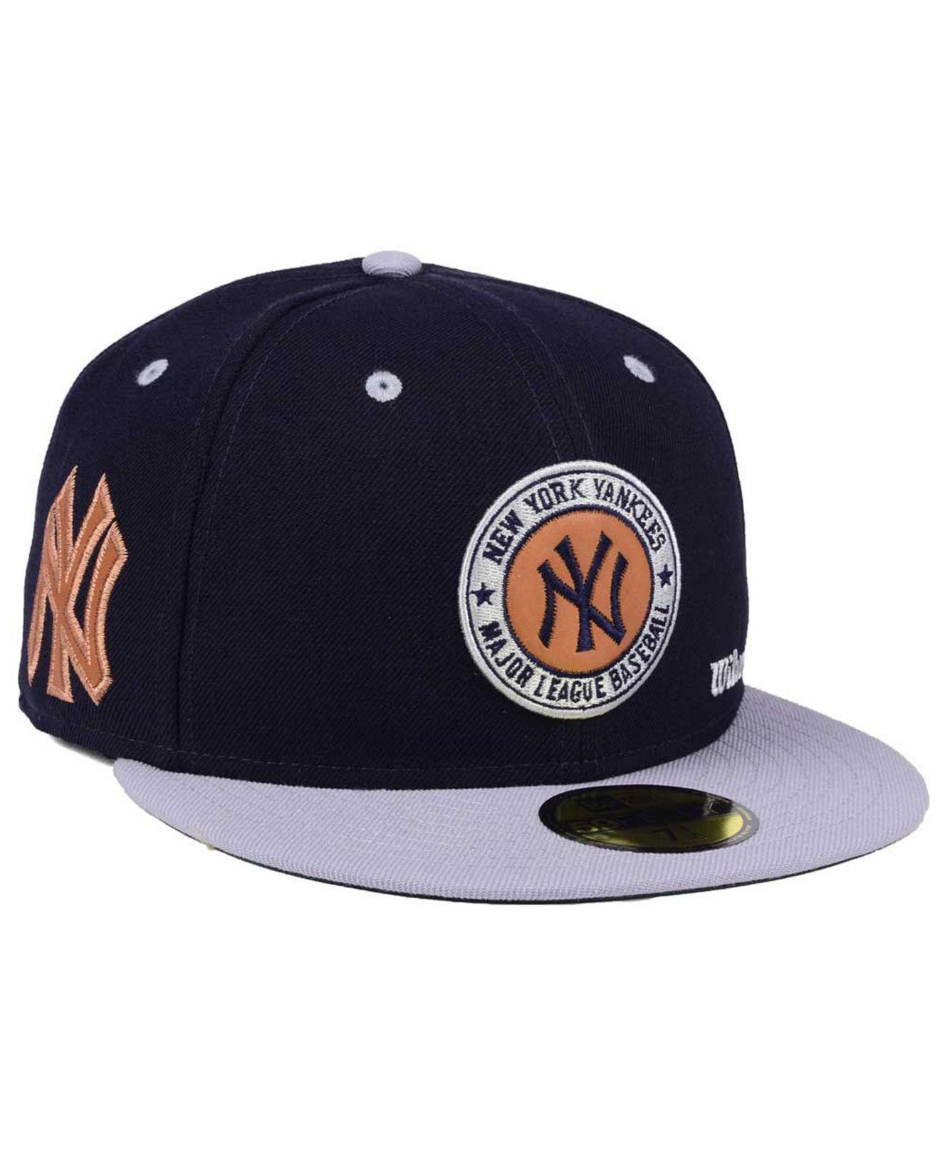 reputable site 5734a 49f98 ... cheapest ktz. mens blue new york yankees x wilson circle patch 59fifty  fitted cap 5f783