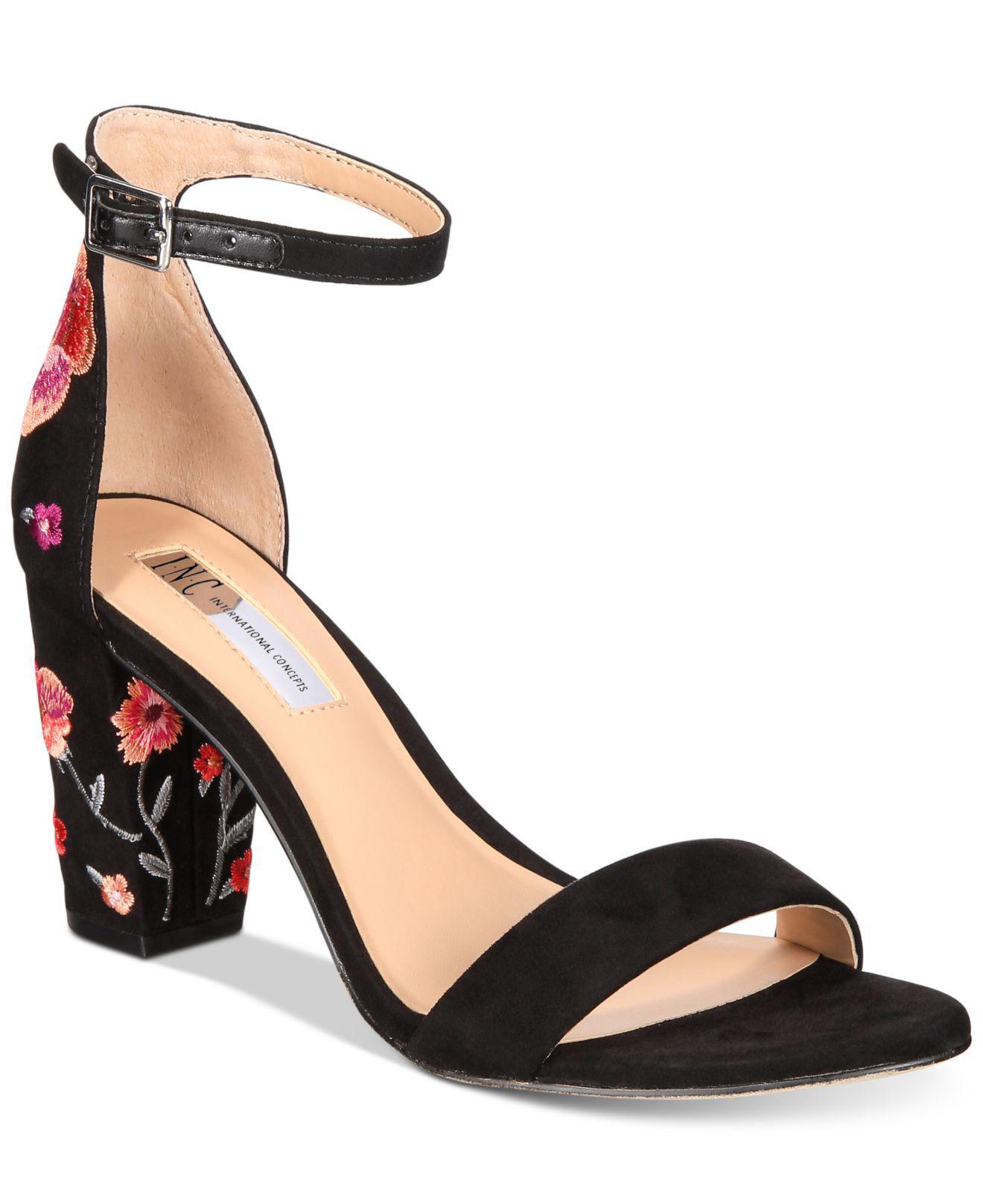 bcd49a99557cb7 Lyst - INC International Concepts Kivah Block-heel Dress Sandals in ...