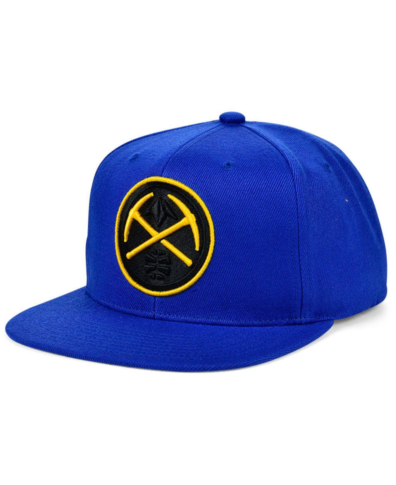 NBA Denver Nuggets Hardwood Classics Embroidered Logo Snapback Cap Hat Mens
