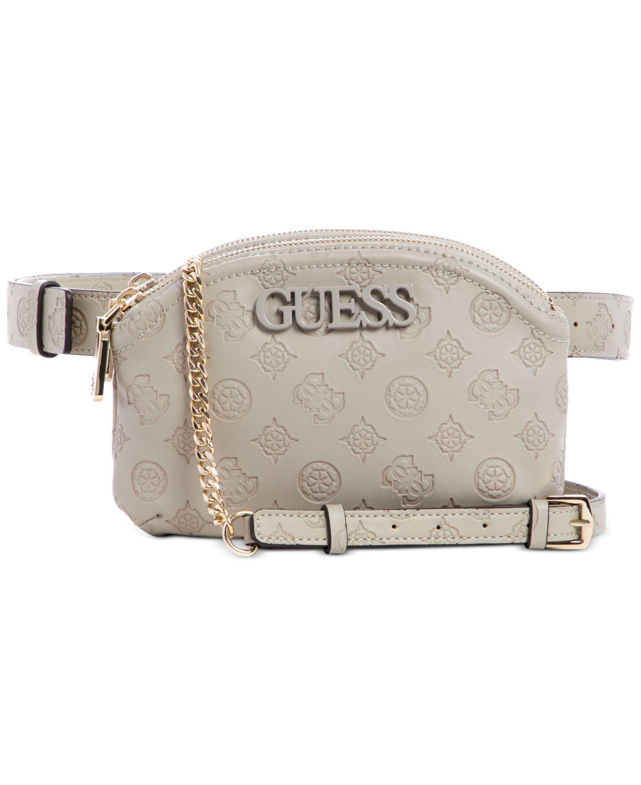 Grey convertible cross body belt bag