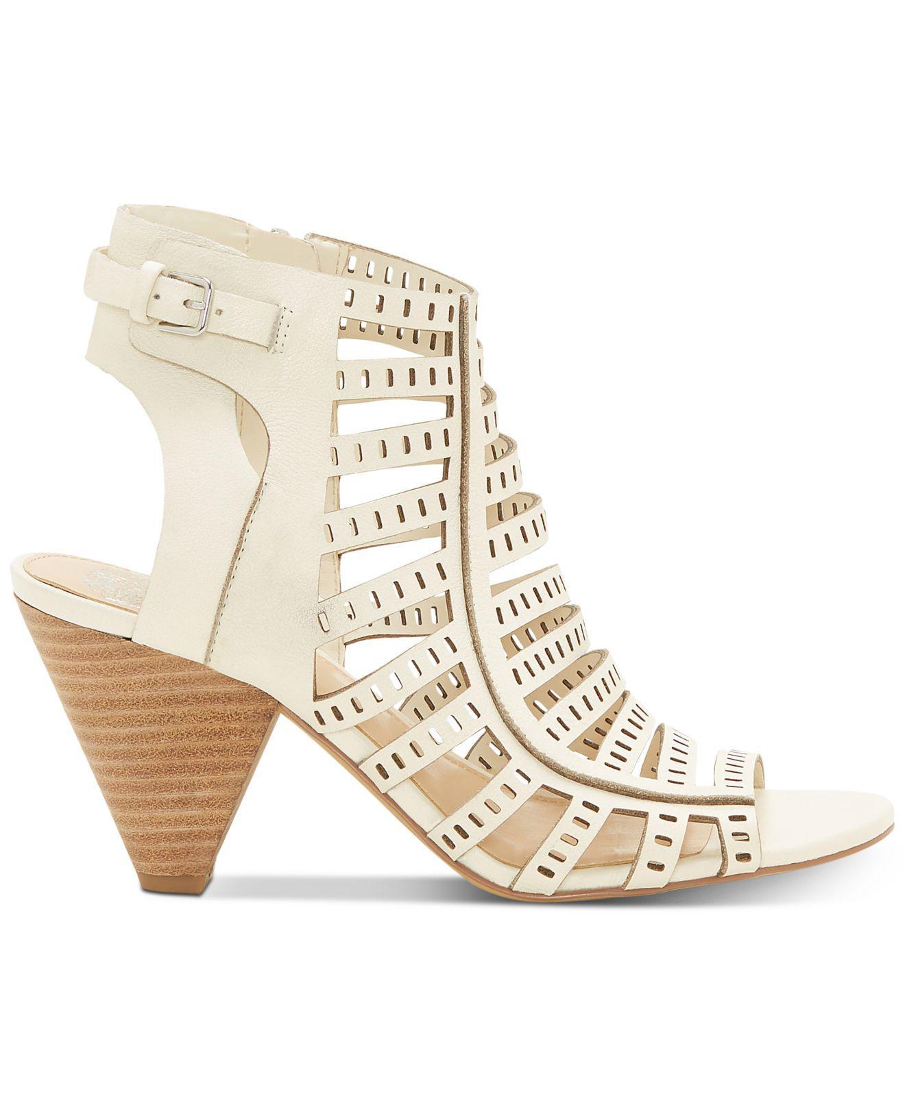 ba3109812ca Lyst - Vince Camuto Evalina Cone-heel Dress Sandals