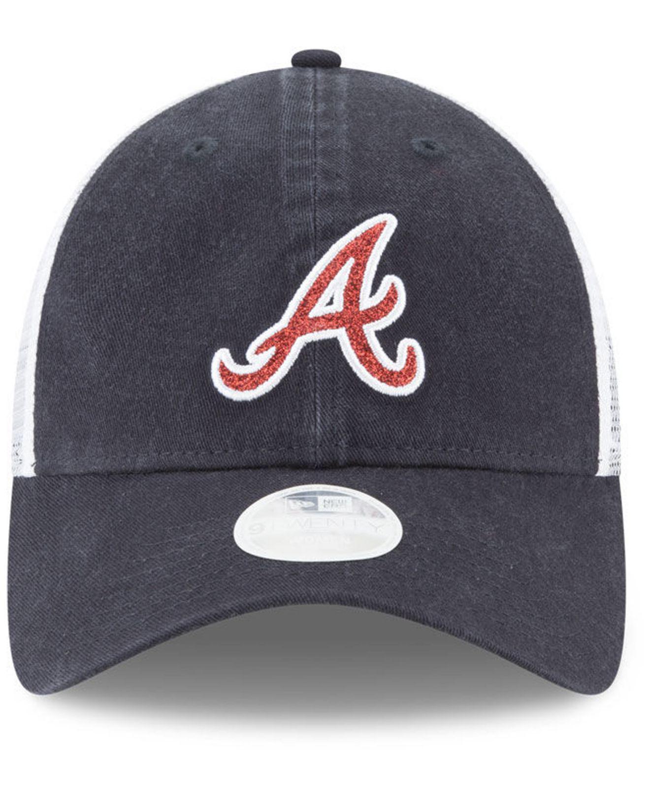info for 60c7e d27b4 ... mlb baseball cap hat osfm 0d276 5caab  cheapest lyst ktz atlanta braves  trucker shine 9twenty cap in blue for men bcd1e e2da0