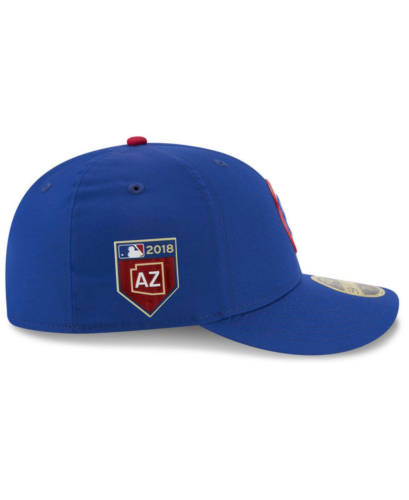 new concept 95d35 a6710 Lyst - KTZ Chicago Cubs Spring Training Pro Light Low Profile 59fifty  Fitted Cap in Blue for Men