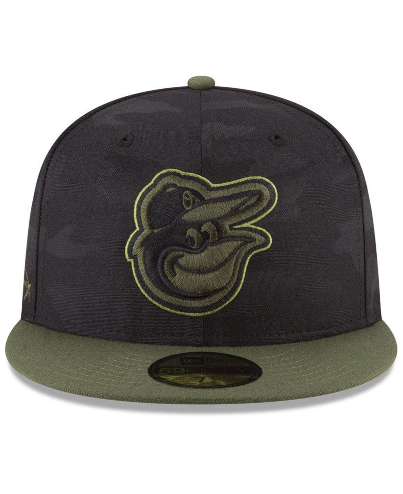 efa683e4 ... get lyst ktz baltimore orioles memorial day 59fifty fitted cap in black  for men 75b4f 59fc8