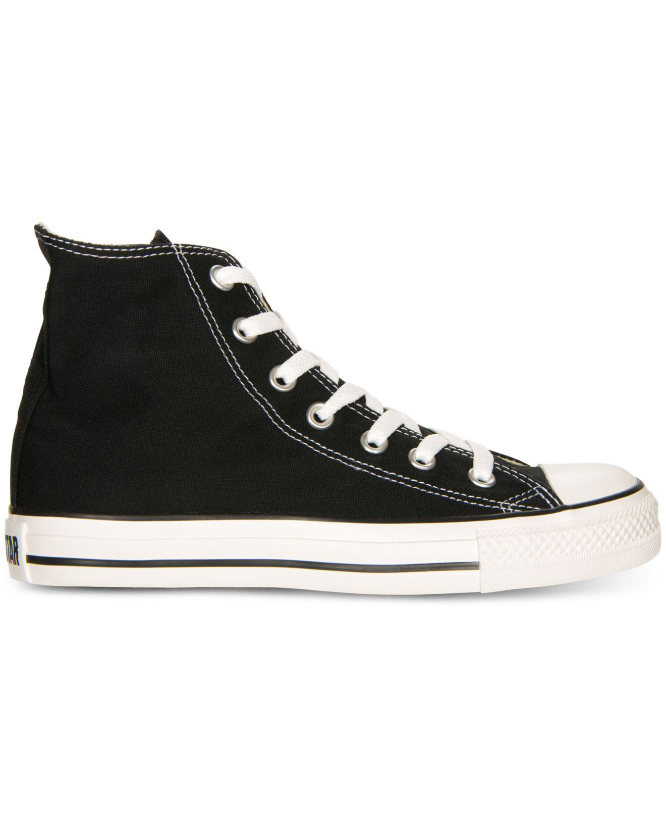 9d5b3ab01309 Lyst - Converse Women s Chuck Taylor All Star Hi Top Sneakers From Finish  Line in Black