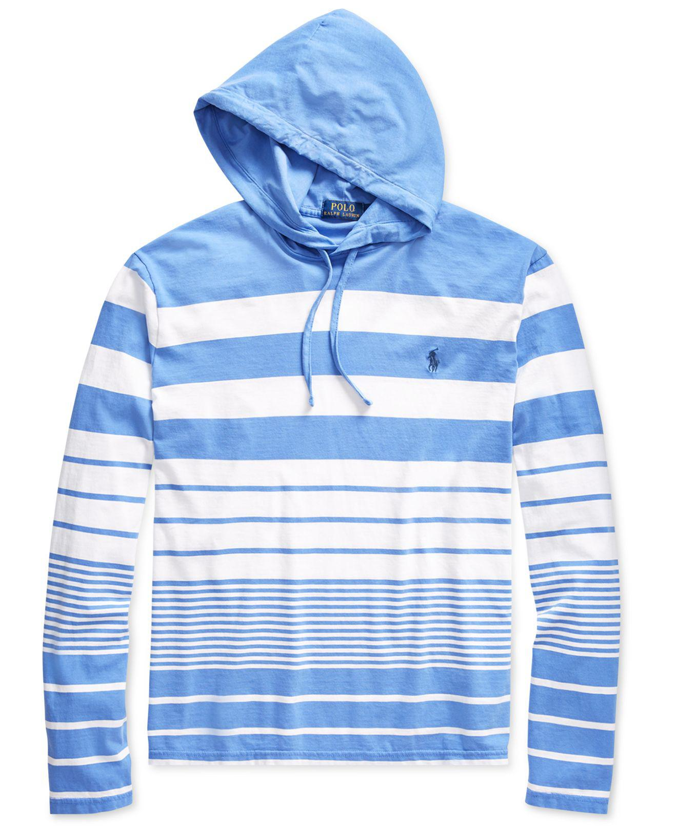 2ab31cee2 ... sweatshirt a1054 77fc7 low cost lyst polo ralph lauren striped hooded t  shirt in blue for men e7d46 62224 ...