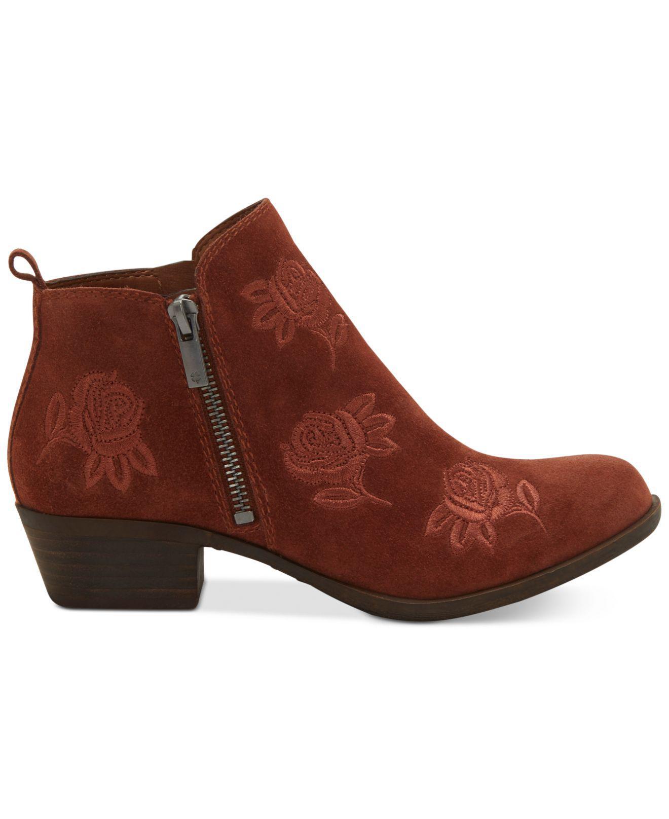 3a760b3834c Lucky Brand Brown Women's Basel Booties