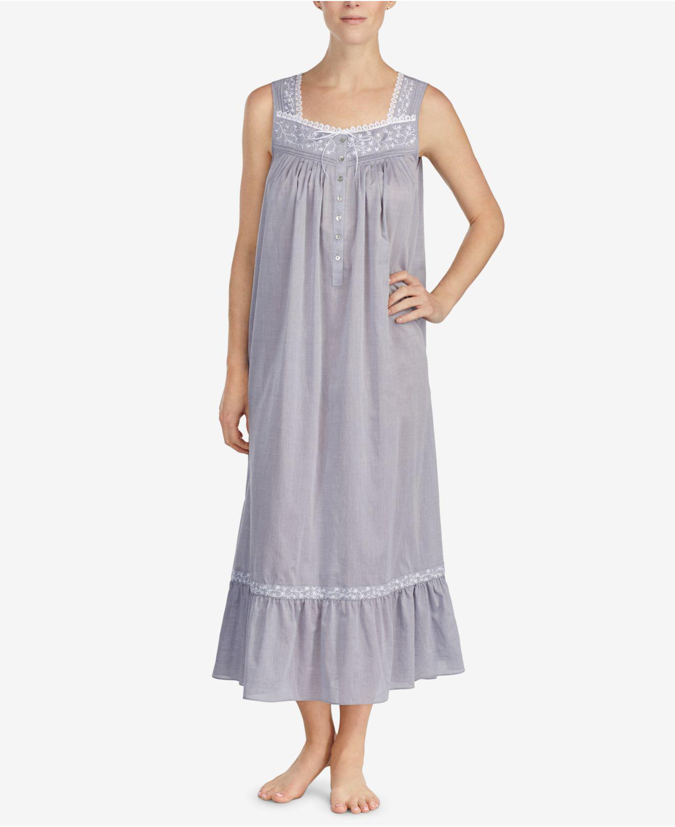 c59c3bd548 Lyst - Eileen West Petite Cotton Chambray Ballet Nightgown - Save 36%