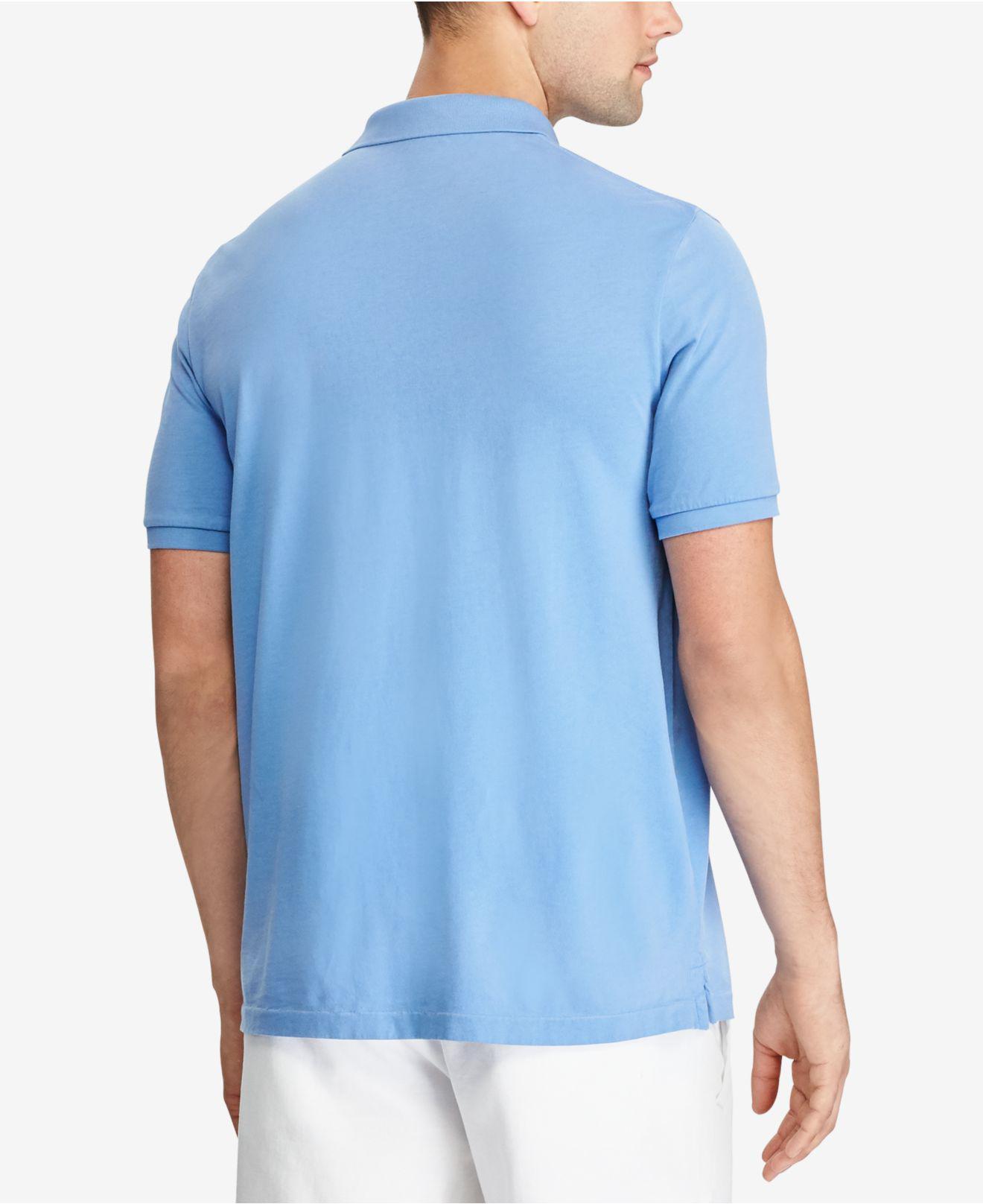 Men's Classic Men Lauren Ralph Jersey Blue Fit For Polo CtrdhsQ