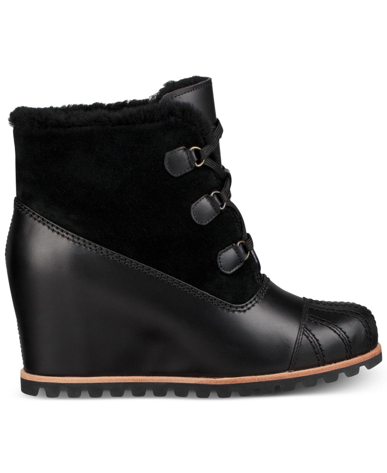 552efaa496e Lyst - UGG Alasdair Wedge Ankle Booties in Black
