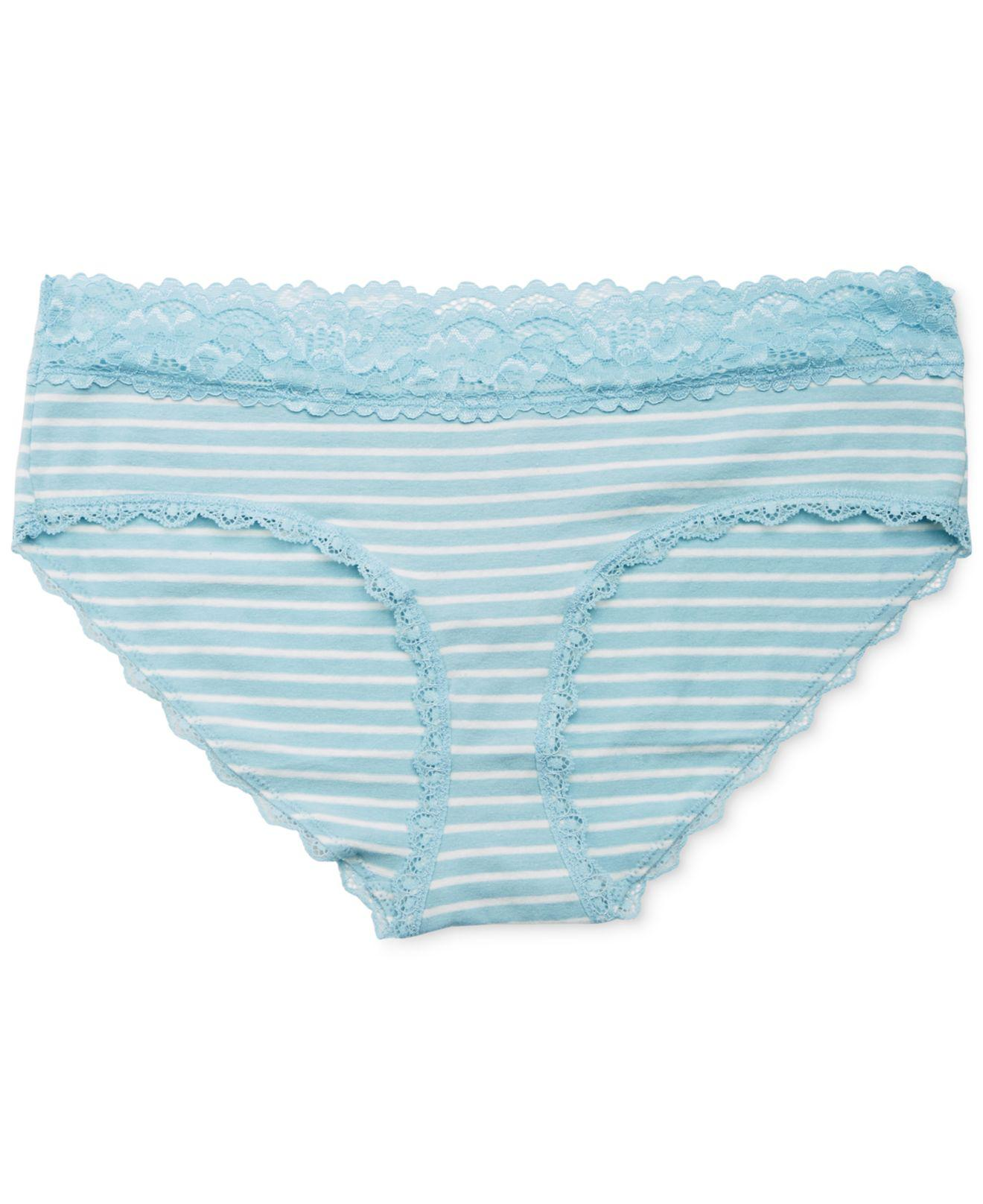 7984756e44 Lyst - Jessica Simpson Maternity Lace-trim Hipster Briefs in Blue