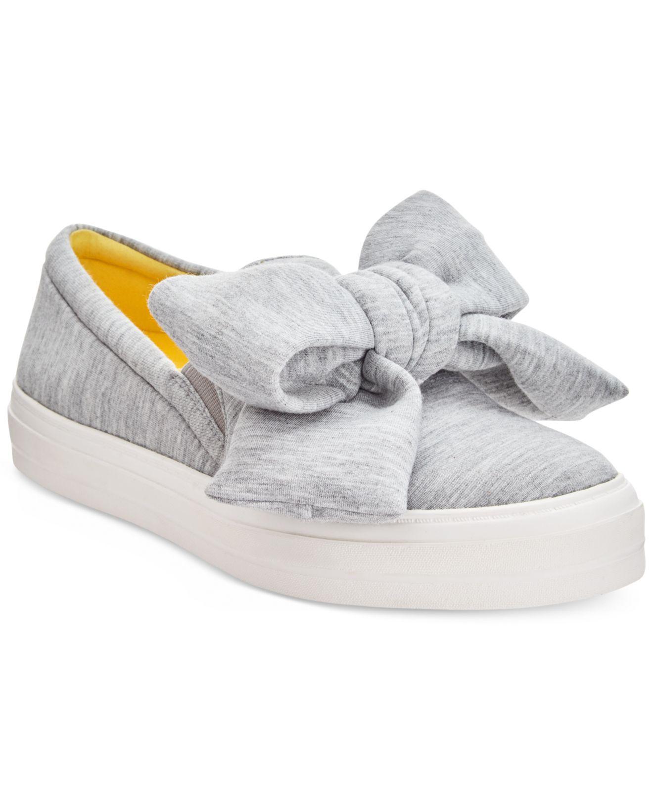 Onosha Bow Flatform Sneakers in Gray