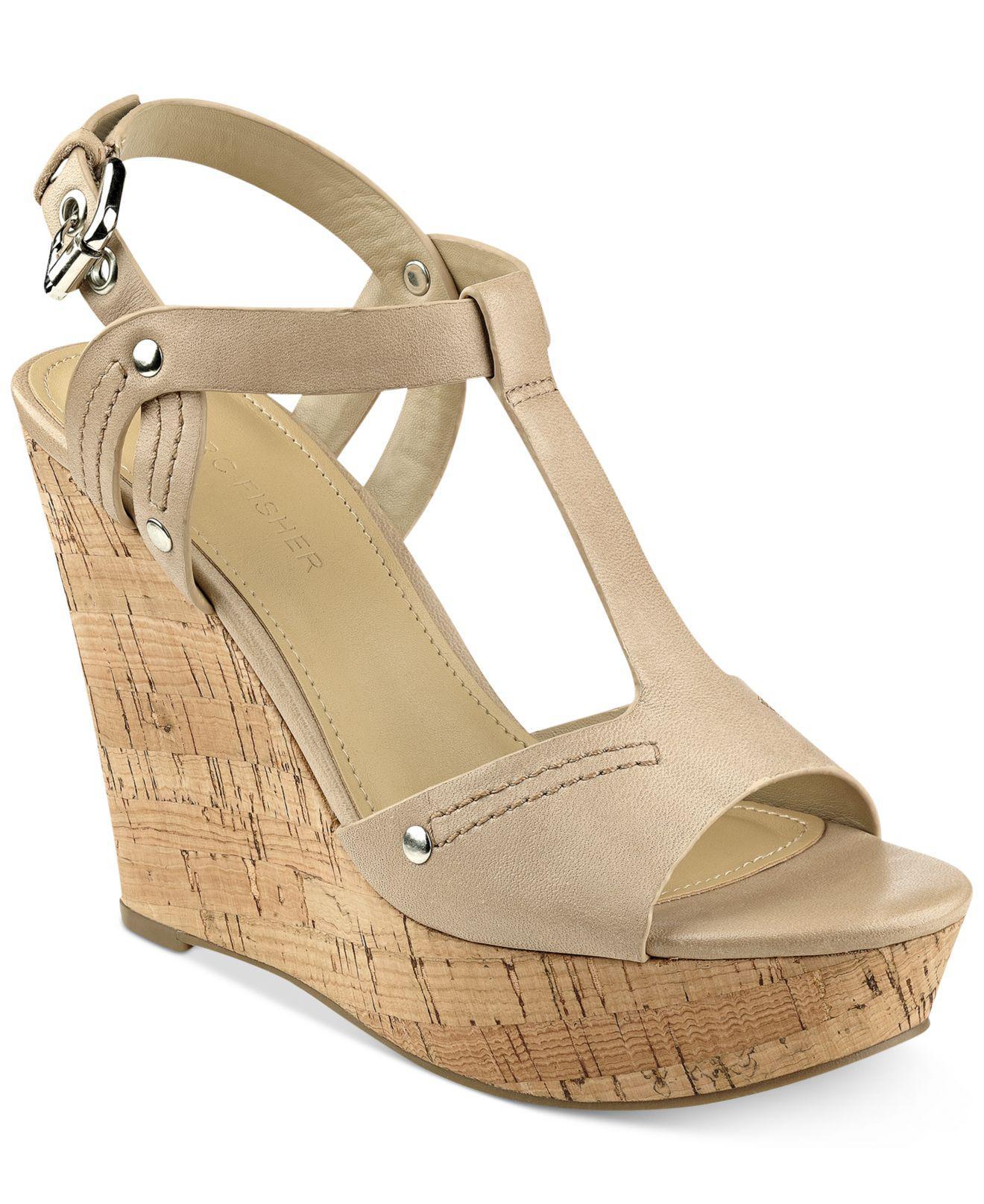 cbbf13ef1f3 Marc Fisher Multicolor Helma Platform Wedge Sandals