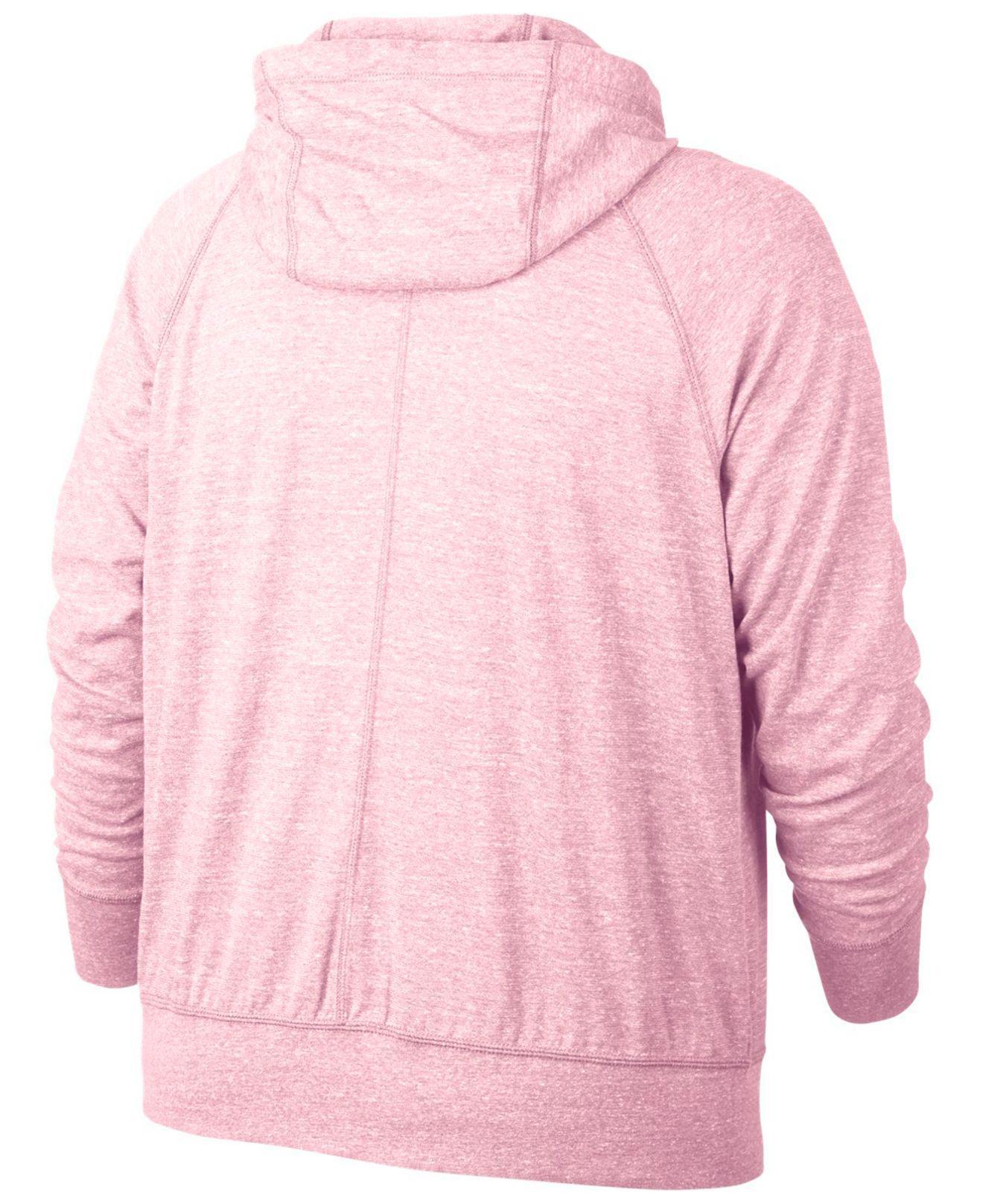 80b3660a95df Lyst - Nike Plus Size Sportswear Gym Vintage Hoodie in Pink