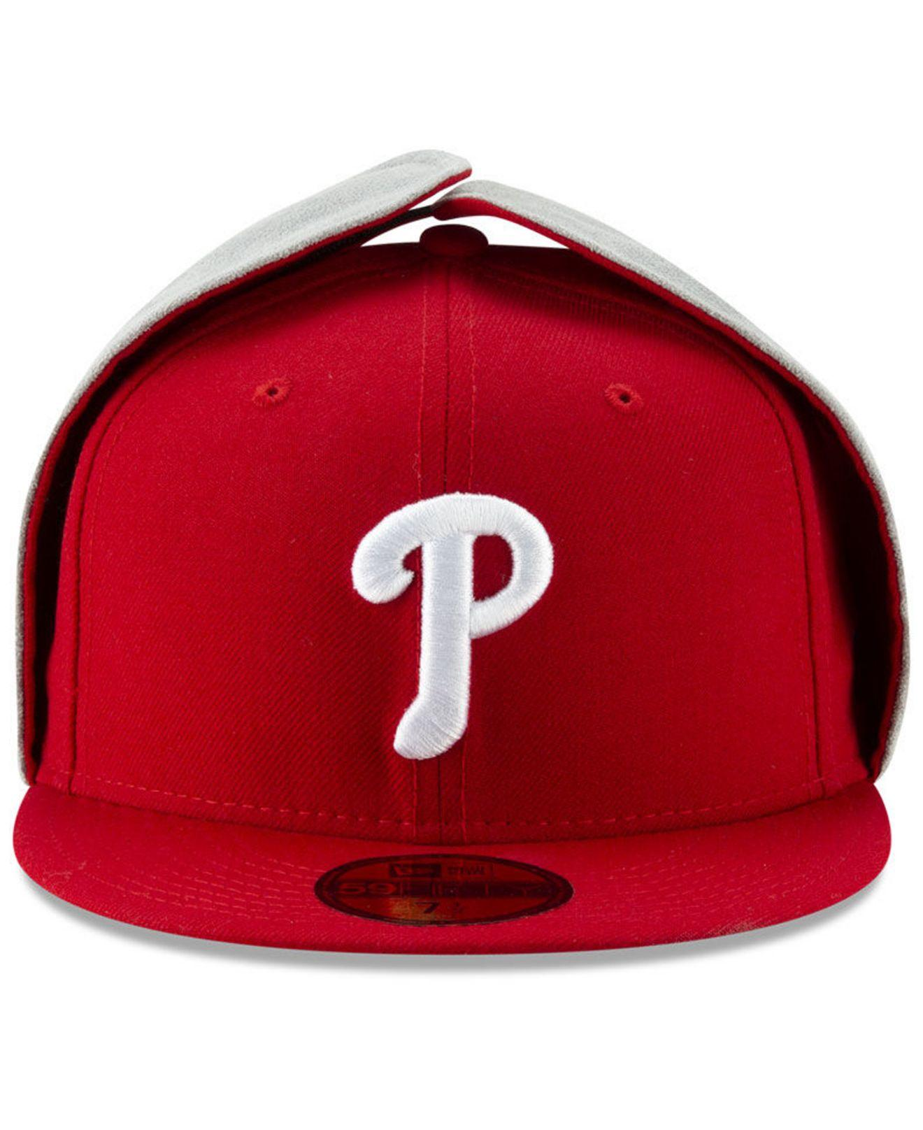 a0545798e696a Lyst - Ktz Philadelphia Phillies Team Color Dogear 59fifty-fitted Cap in Red  for Men