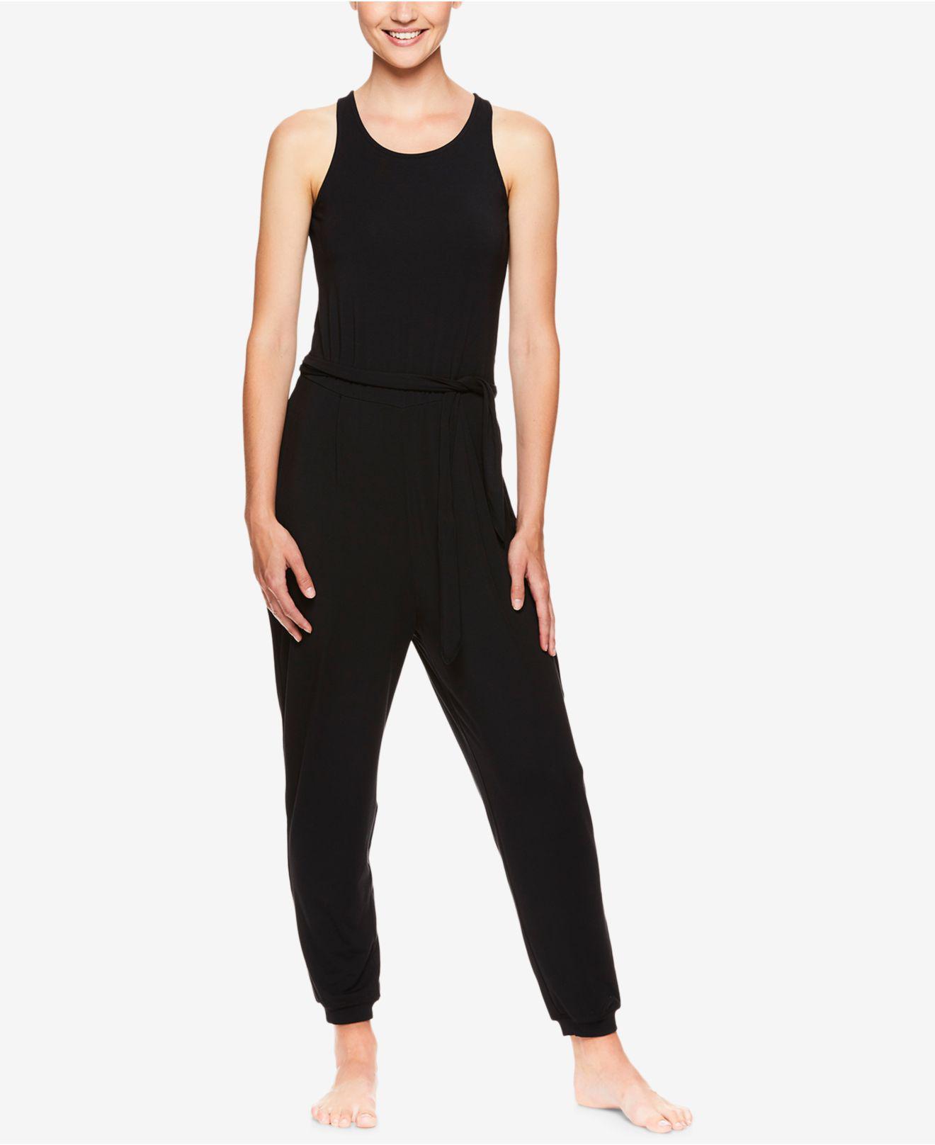 dda3f0b3d68 Lyst - Gaiam X Jessica Biel Mercer Tie Jumpsuit in Black