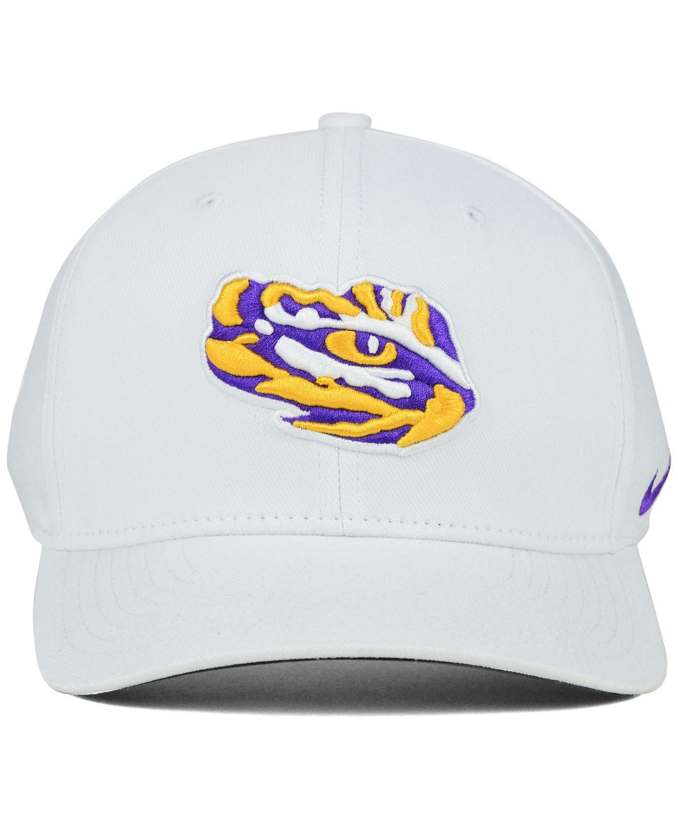 70eb970607dc0 Nike Lsu Tigers Classic Swoosh Cap in White for Men - Lyst
