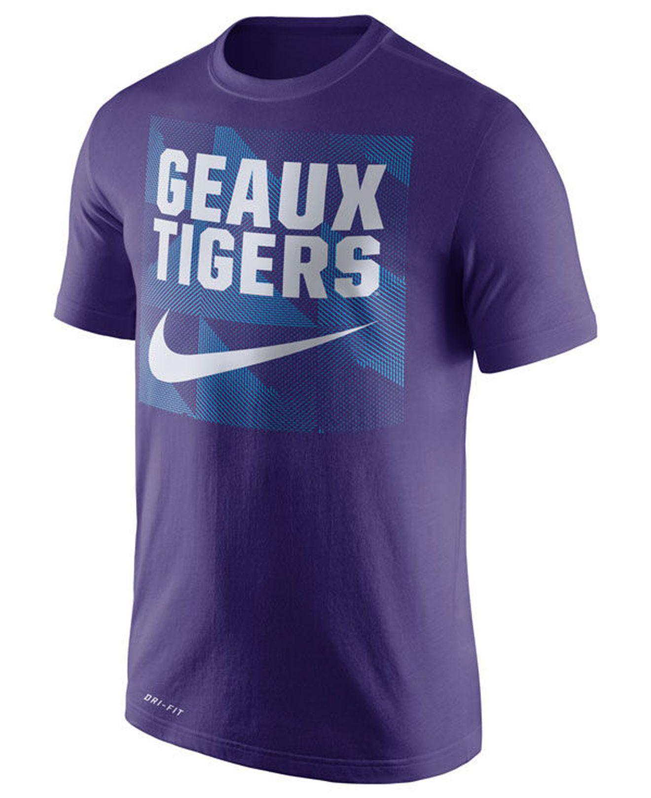 huge selection of db438 29c62 Lyst - Nike Lsu Tigers Dri-fit Fluid Force Mantra T-shirt in Purple ...