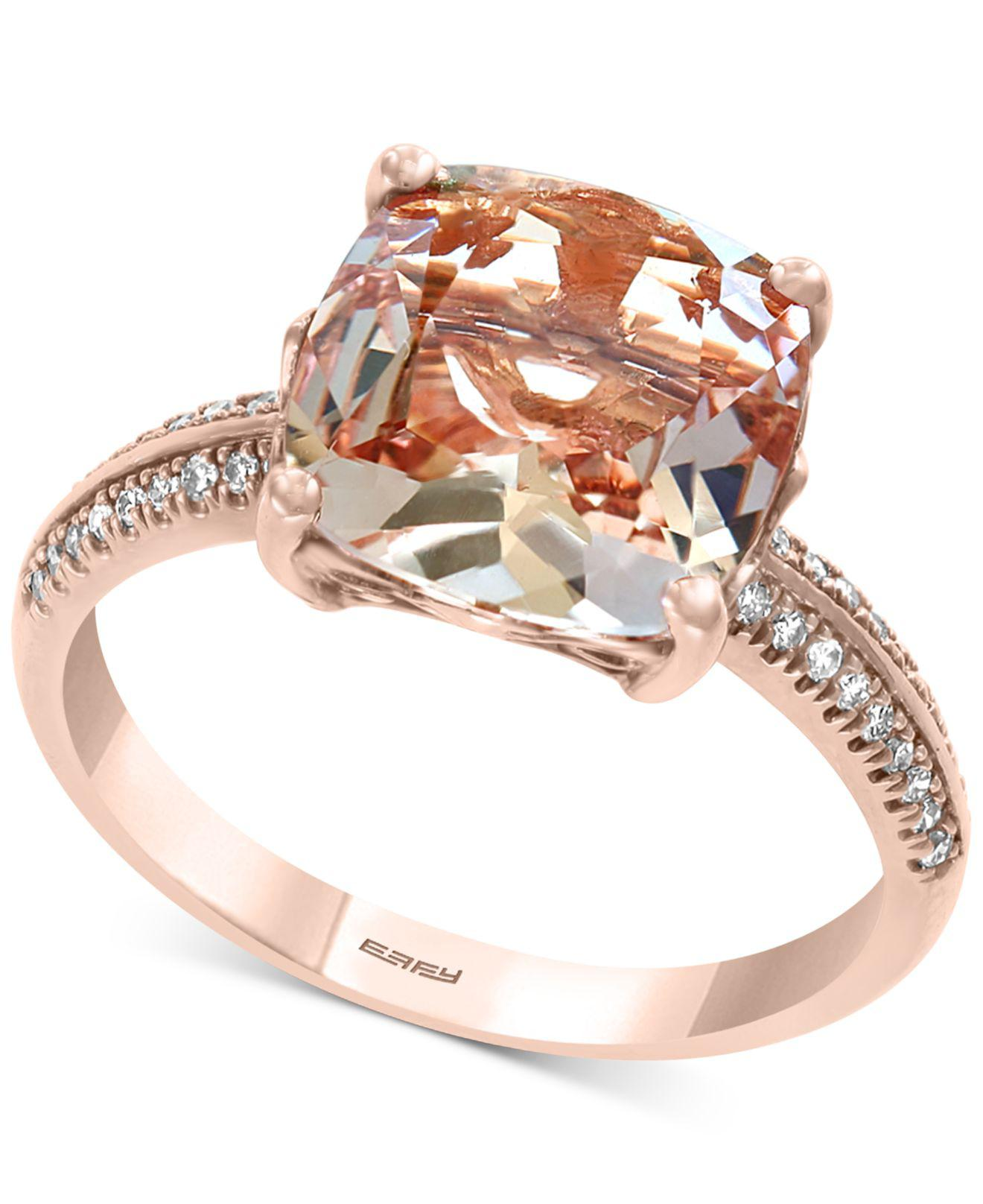 1a37d5121724b7 Effy Collection. Women s Metallic Effy® Morganite (2-9 10 Ct. T.w.)    Diamond ...
