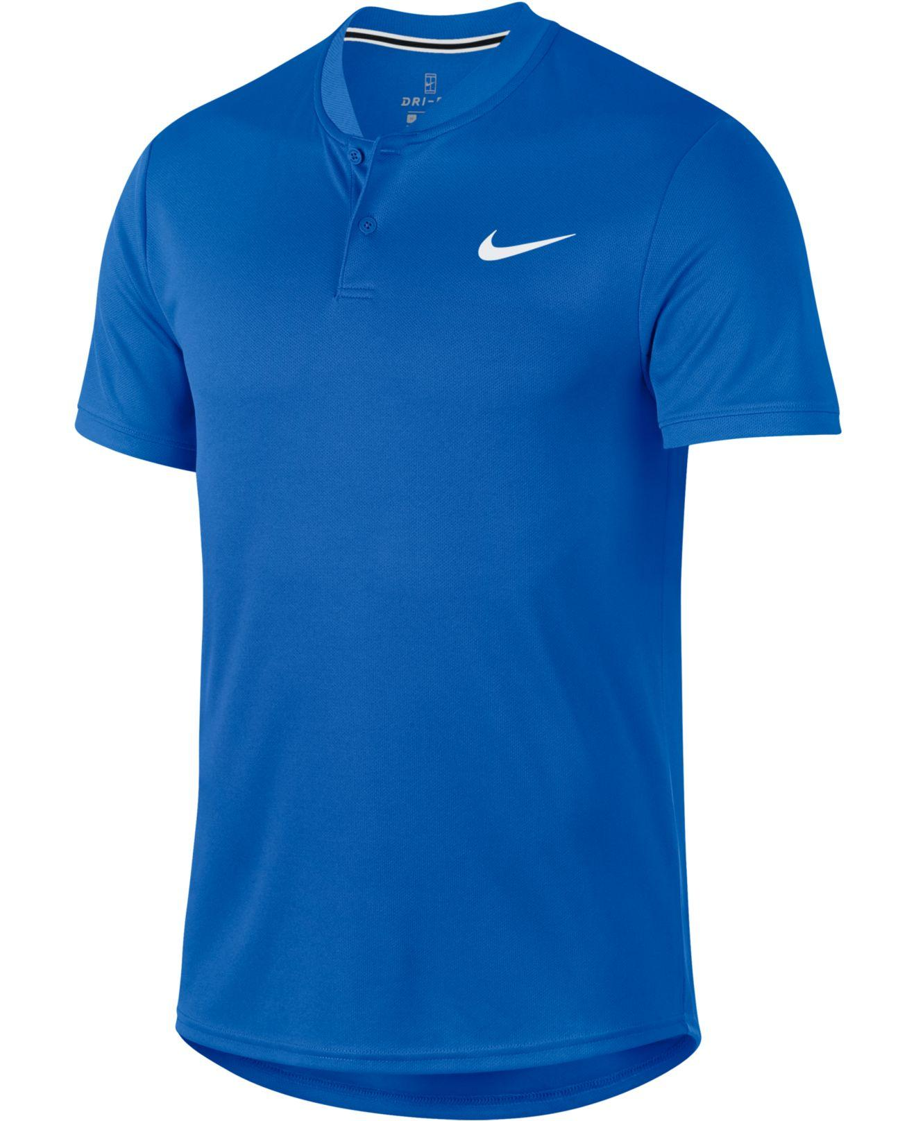 1407553b5 Lyst - Nike Court Dry Blade-collar Tennis Polo in Blue for Men