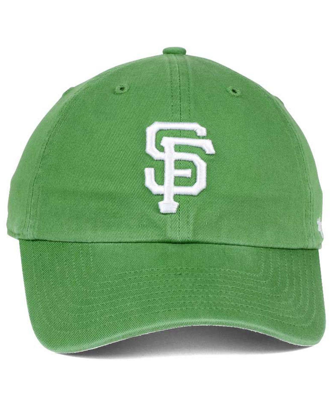 new arrivals 71bbd 8e057 47 Brand - San Francisco Giants Fatigue Green Clean Up Cap for Men - Lyst.  View fullscreen
