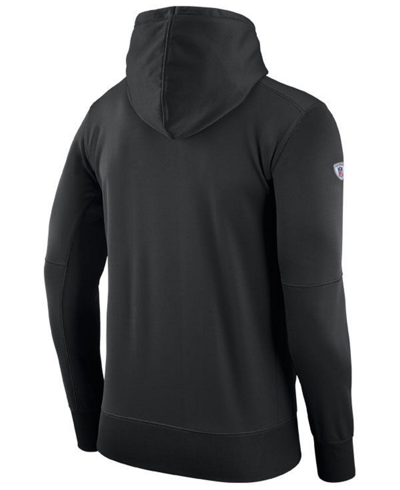 competitive price e8280 d3c8a Mens Nike Detroit Lions Ko Full Zip Hooded Sweatshirt ...