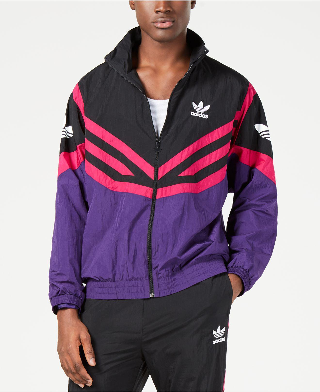 86449b0eafd Adidas - Purple Originals Sportive Colorblocked Track Jacket for Men -  Lyst. View fullscreen