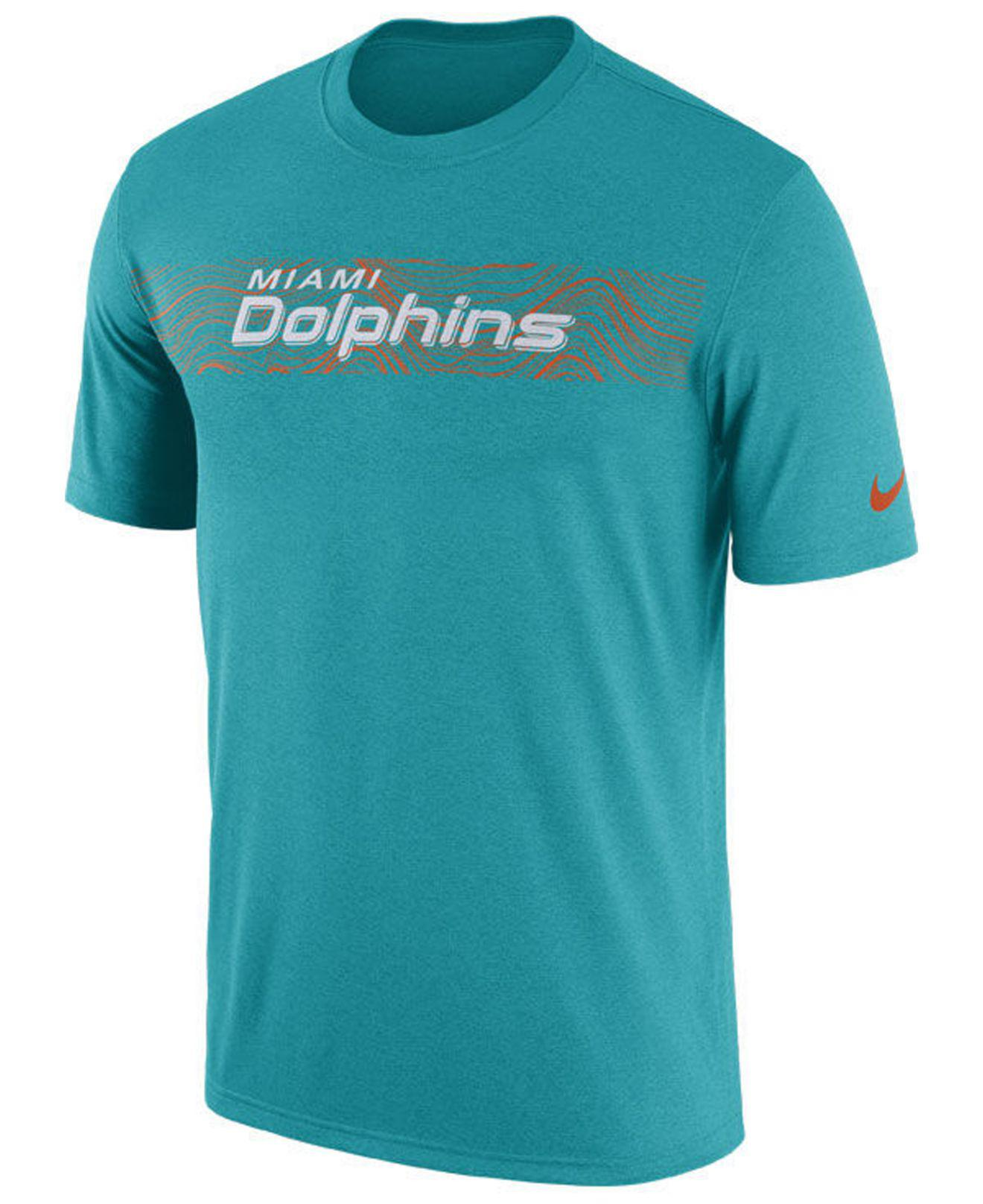 Lyst - Nike Miami Dolphins Legend On-field Seismic T-shirt in Blue ... 78dc73c28