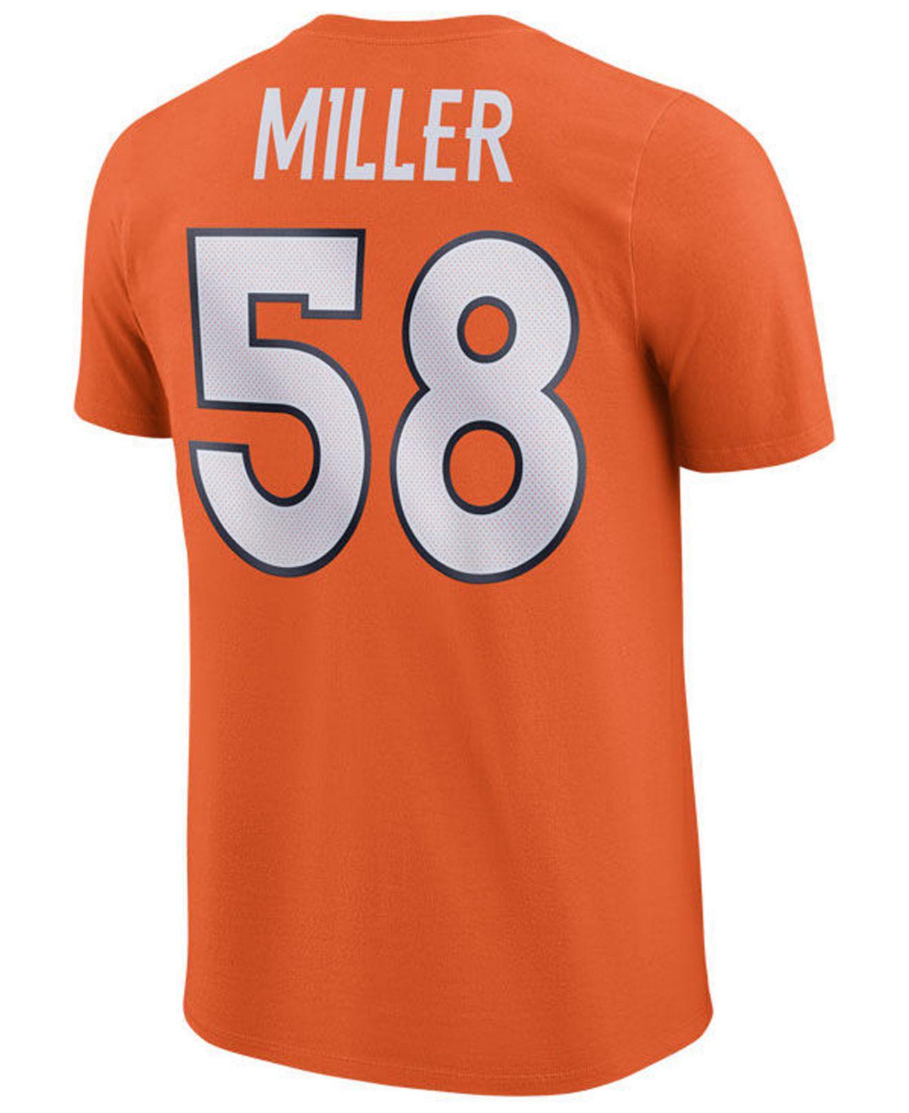 855fa5a05 Lyst - Nike Von Miller Denver Broncos Pride Name And Number Wordmark T-shirt  in Orange for Men