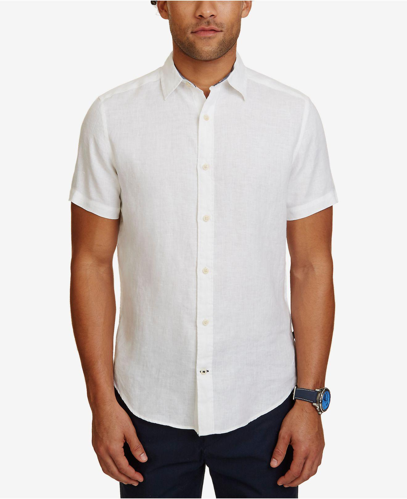 Nautica Long Sleeve Floral Linen Woven Shirt Cheap Sale Best Wholesale gT6jbMGe3