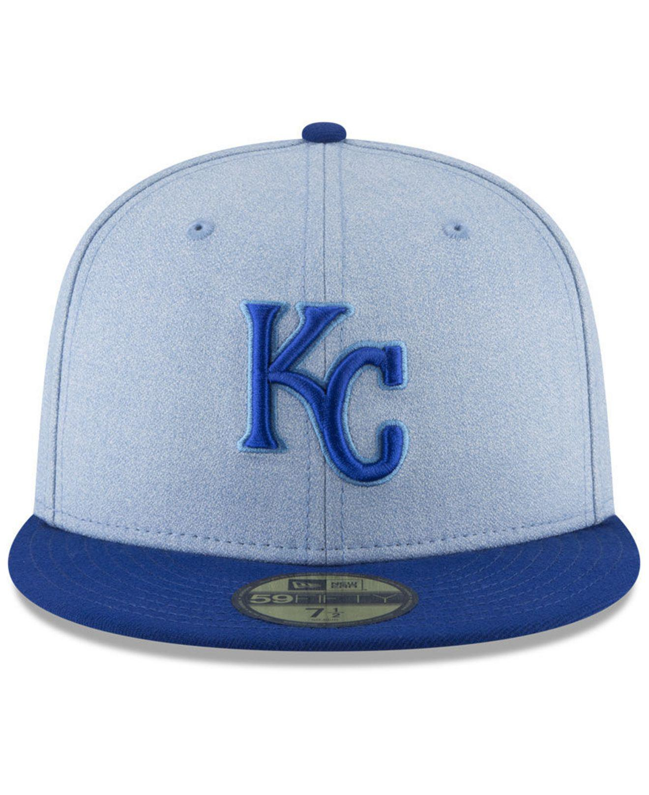 Lyst - Ktz Kansas City Royals Father s Day 59fifty Fitted Cap 2018 in Blue  for Men 6359a2be4ed2