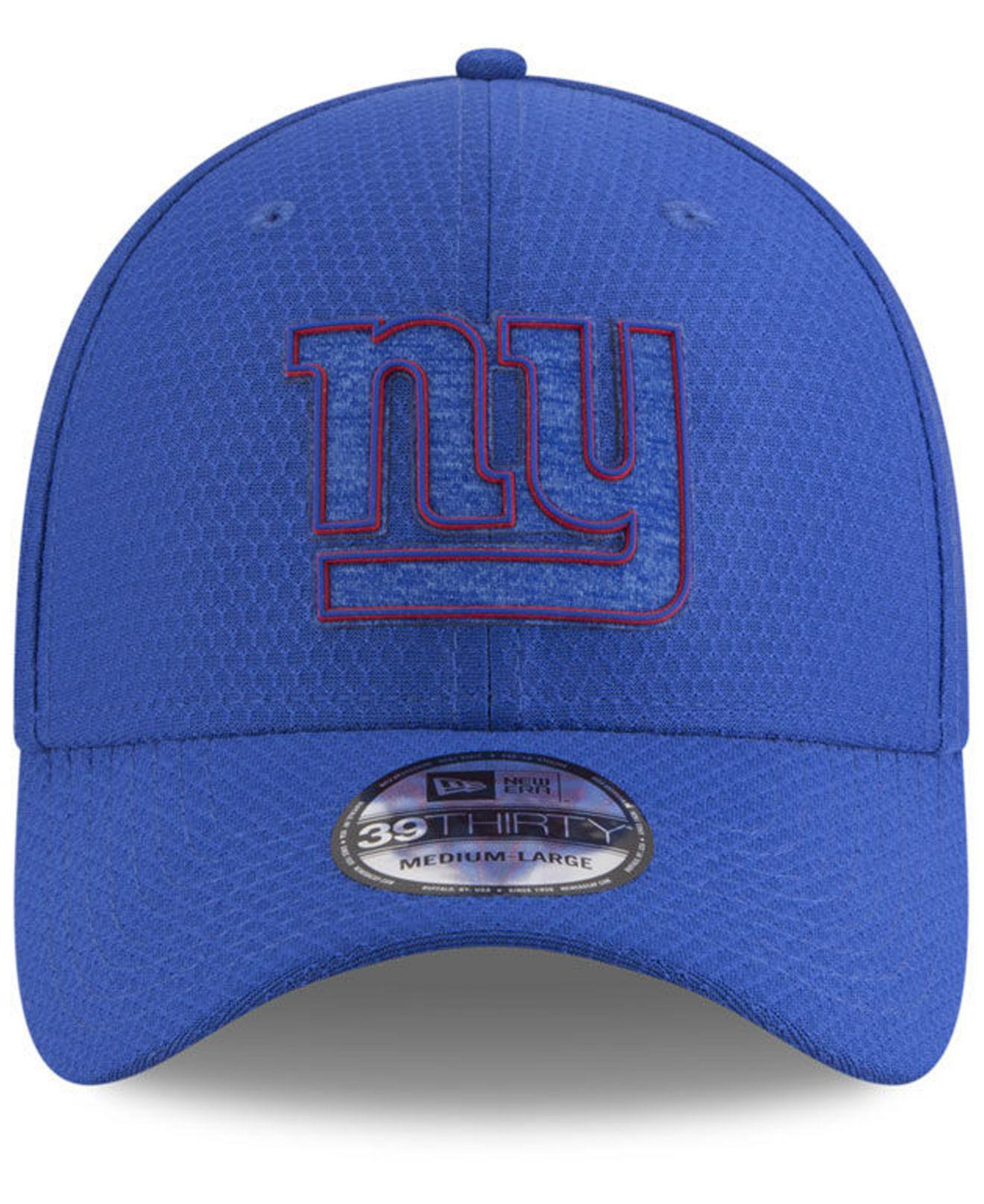 7fd2be150 Lyst - Ktz New York Giants Training Camp 39thirty Stretch Fitted Cap 2018  in Blue for Men