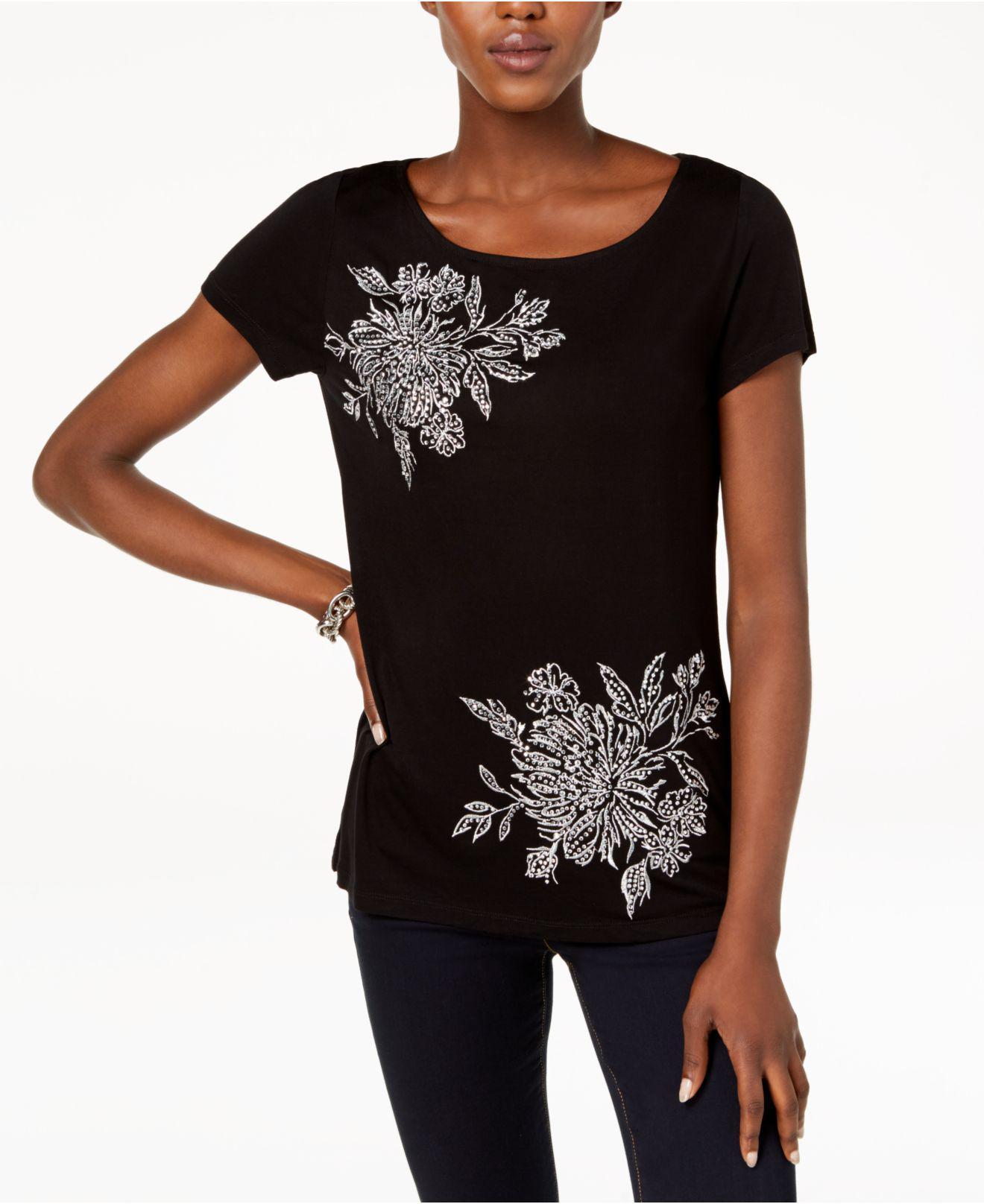 102593e57db Lyst - Inc International Concepts I.n.c. Embellished T-shirt ...