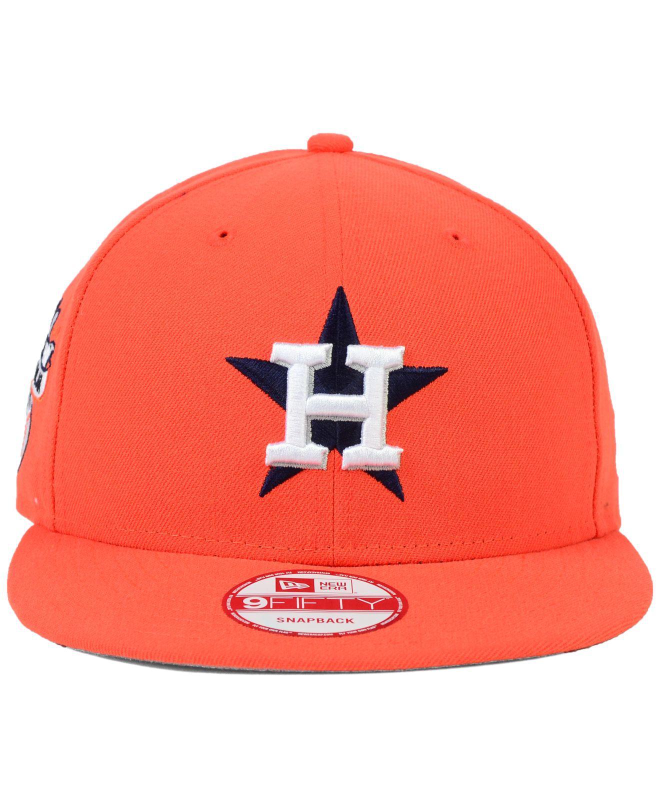 cheap for discount 2d651 9f3de Lyst - KTZ Houston Astros 2 Tone Link 9fifty Snapback Cap in Orange for Men