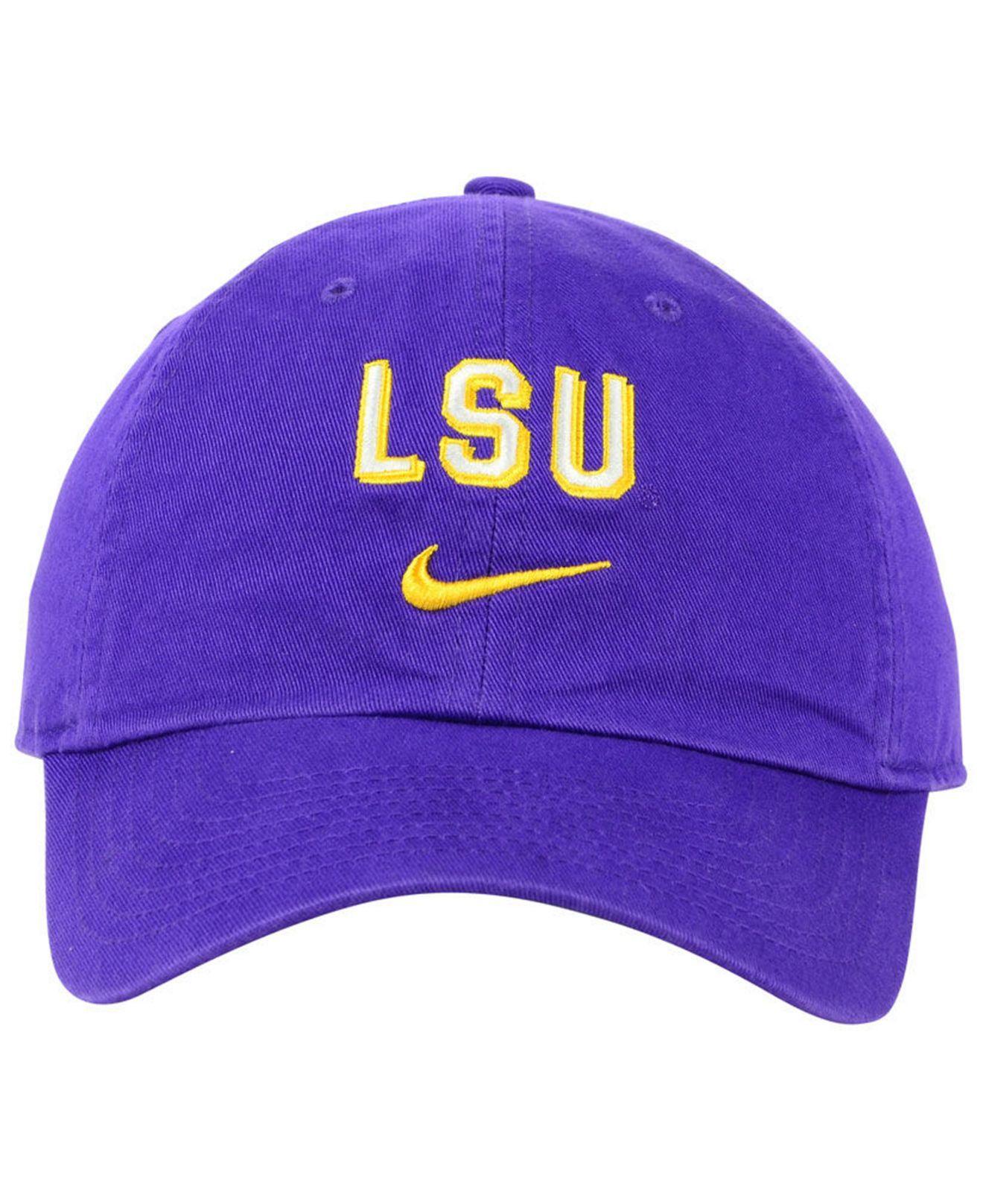 new products 06d49 4e408 Nike - Purple Lsu Tigers H86 Wordmark Swoosh Cap for Men - Lyst. View  fullscreen