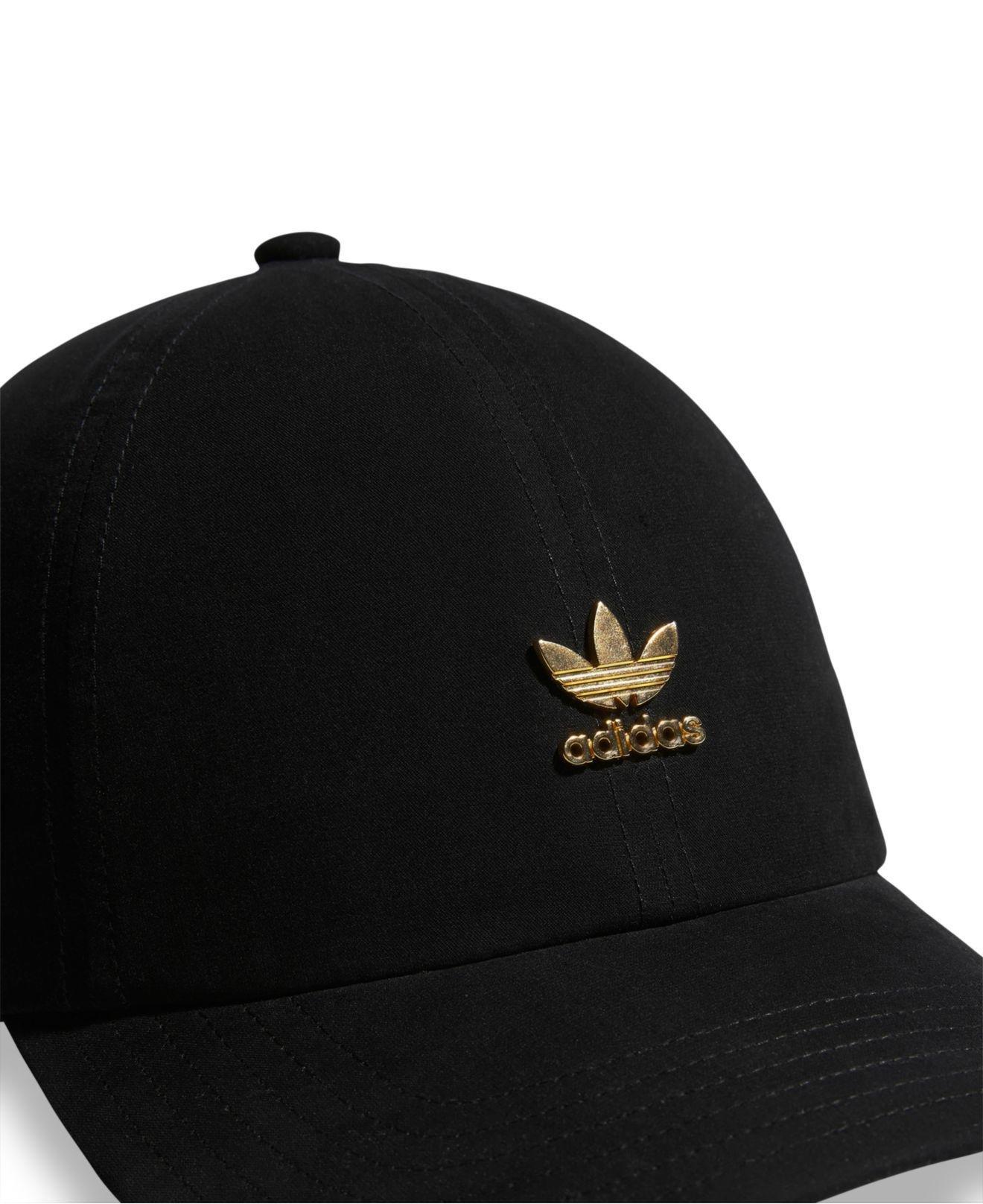 Lyst - adidas Originals Metallic-logo Relaxed Cap in Black 58950be0e42