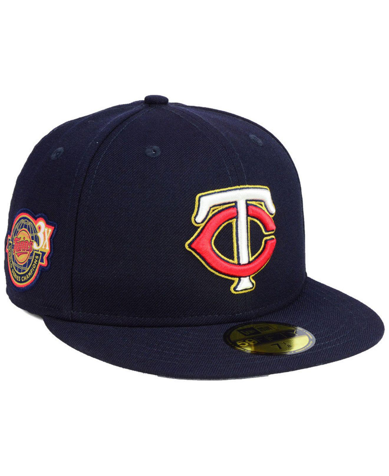 san francisco 4b2f7 21a37 KTZ. Men s Blue Minnesota Twins Trophy Patch 59fifty Fitted Cap