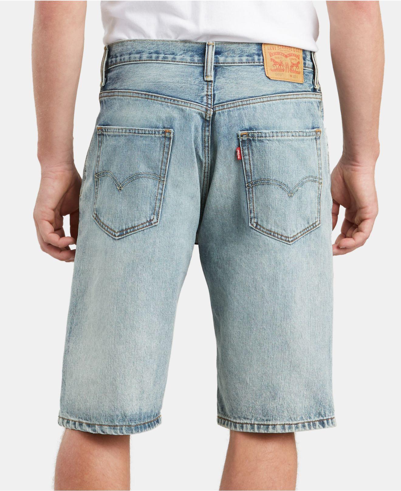 dd276dfe Lyst - Levi's Big & Tall 569tm Loose Fit Denim Shorts in Blue for Men