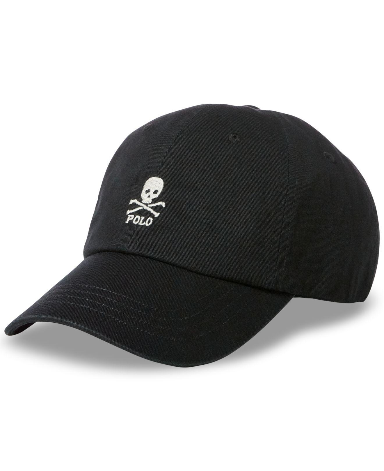 f1ab7e5b Polo Ralph Lauren Embroidered Skull Baseball Cap in Black for Men - Lyst
