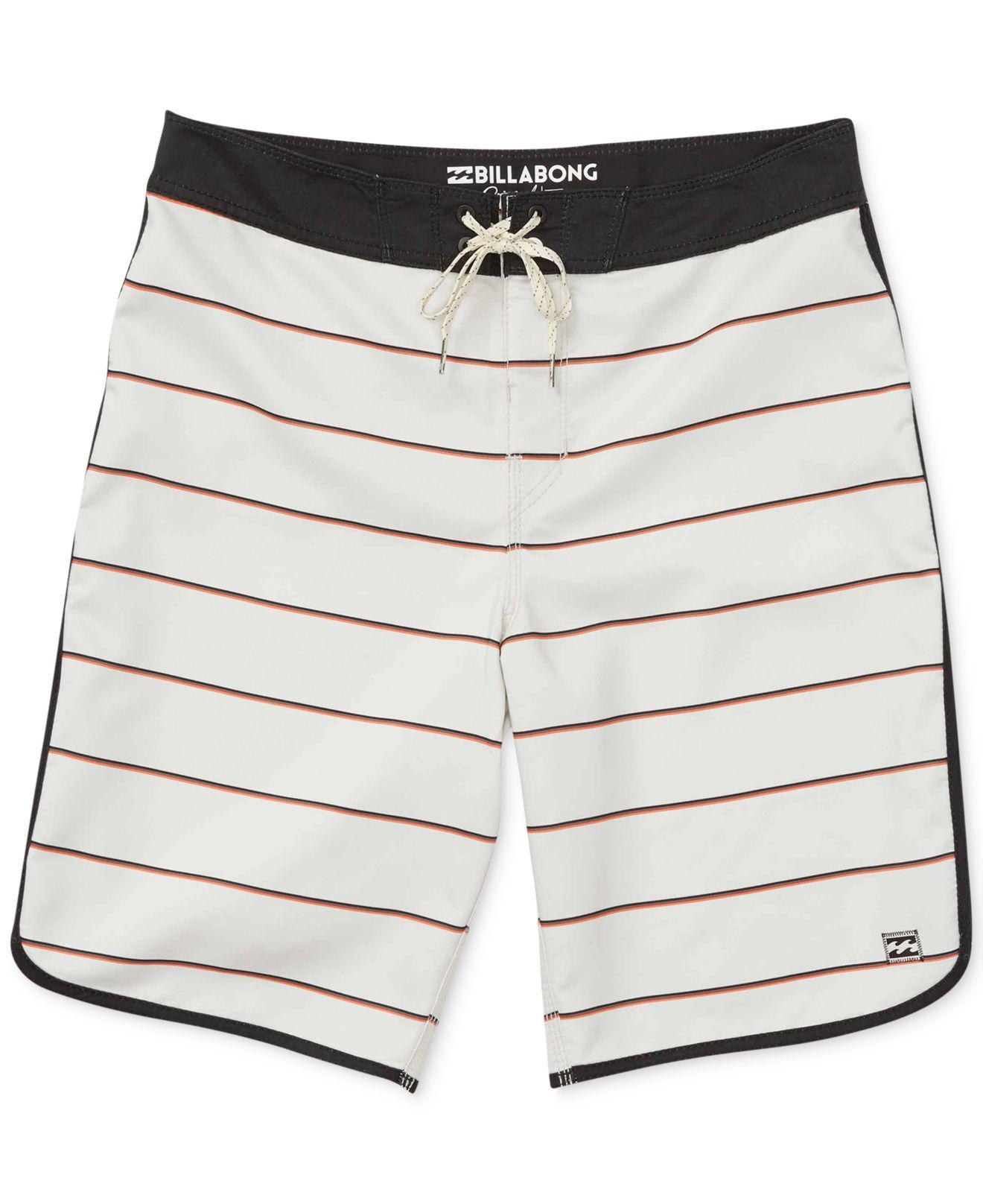 6c3af13e0c Lyst - Billabong Men's 73 Og Stripe Swim Trunks in White for Men