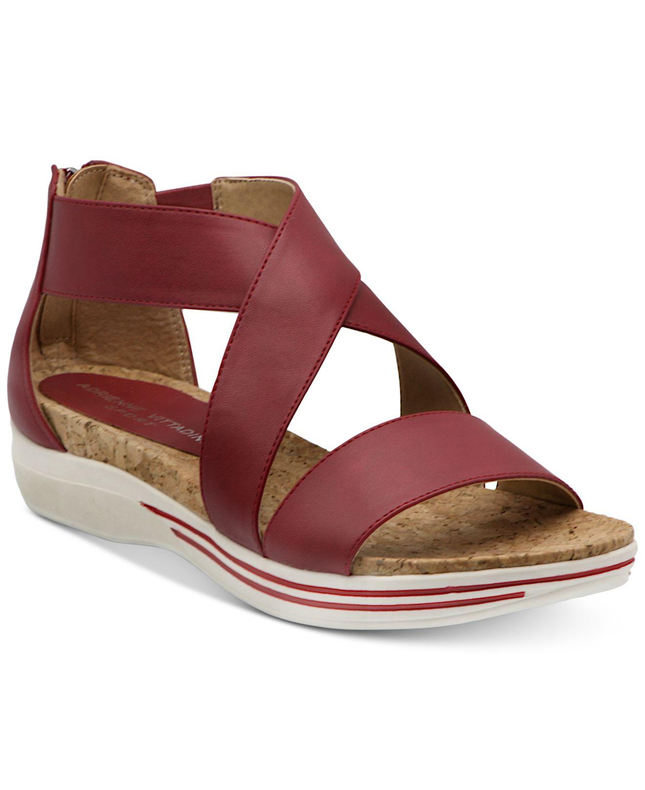 8b504137f64a Lyst - Adrienne Vittadini Cary Sport Sandals in Red