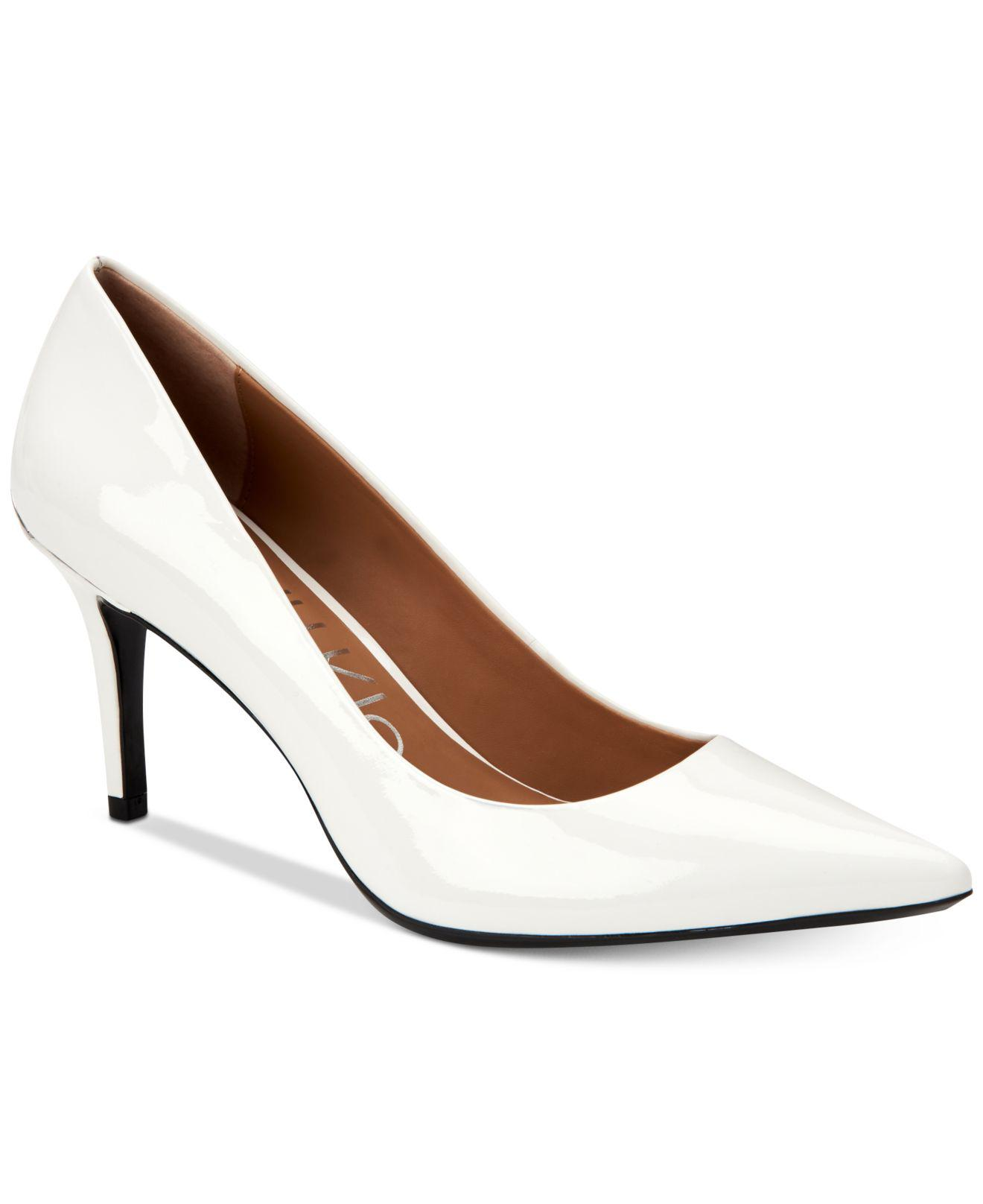 Calvin Klein Leather Gayle Pumps in