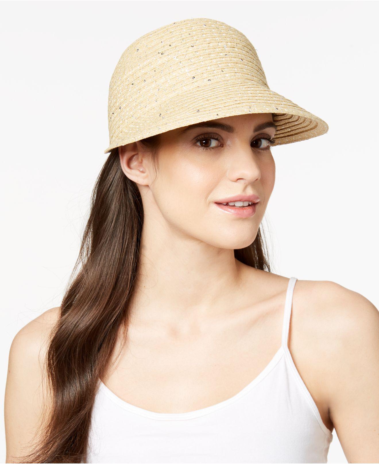 bced63ecc224c Lyst - August Accessories Summer Glow Framer Hat in Natural